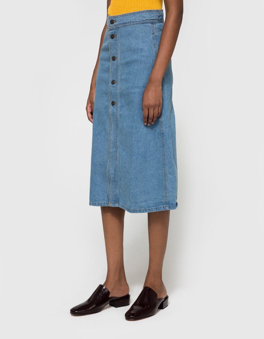 say hi to_ Farrow Harlow Denim Skirt