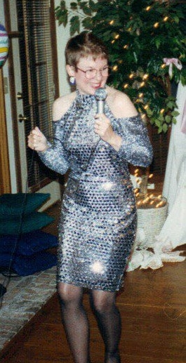 Mama as Madonna in 1993. She was performing Like a Virgin for her tacky party with an Azalea Festival Garden Party theme.