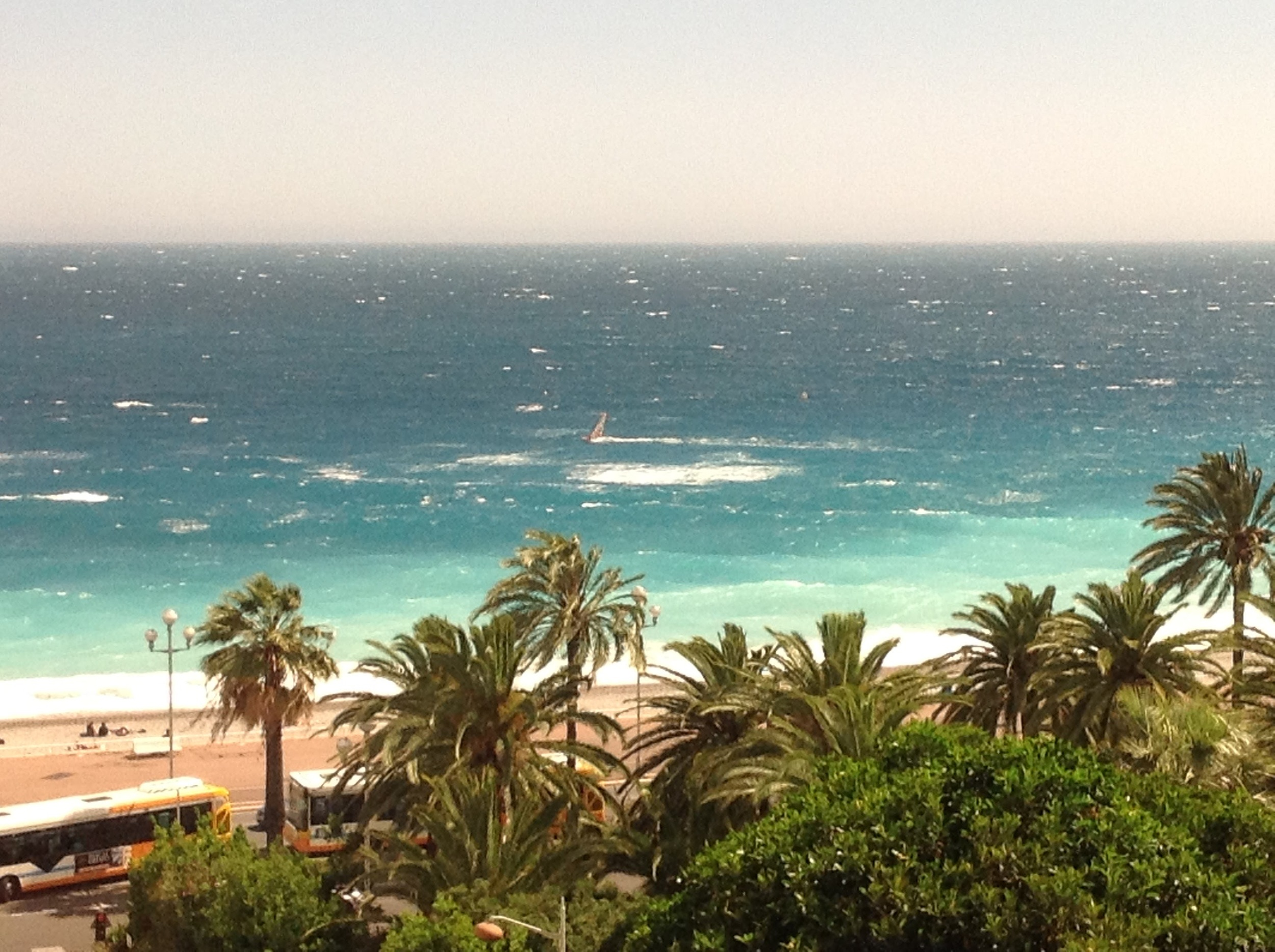 View from the Room. If the race had been today, they would have canceled the swim. The winds were gusting to 30mph.
