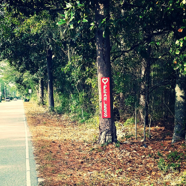A Sign from one of my first training rides of the season.