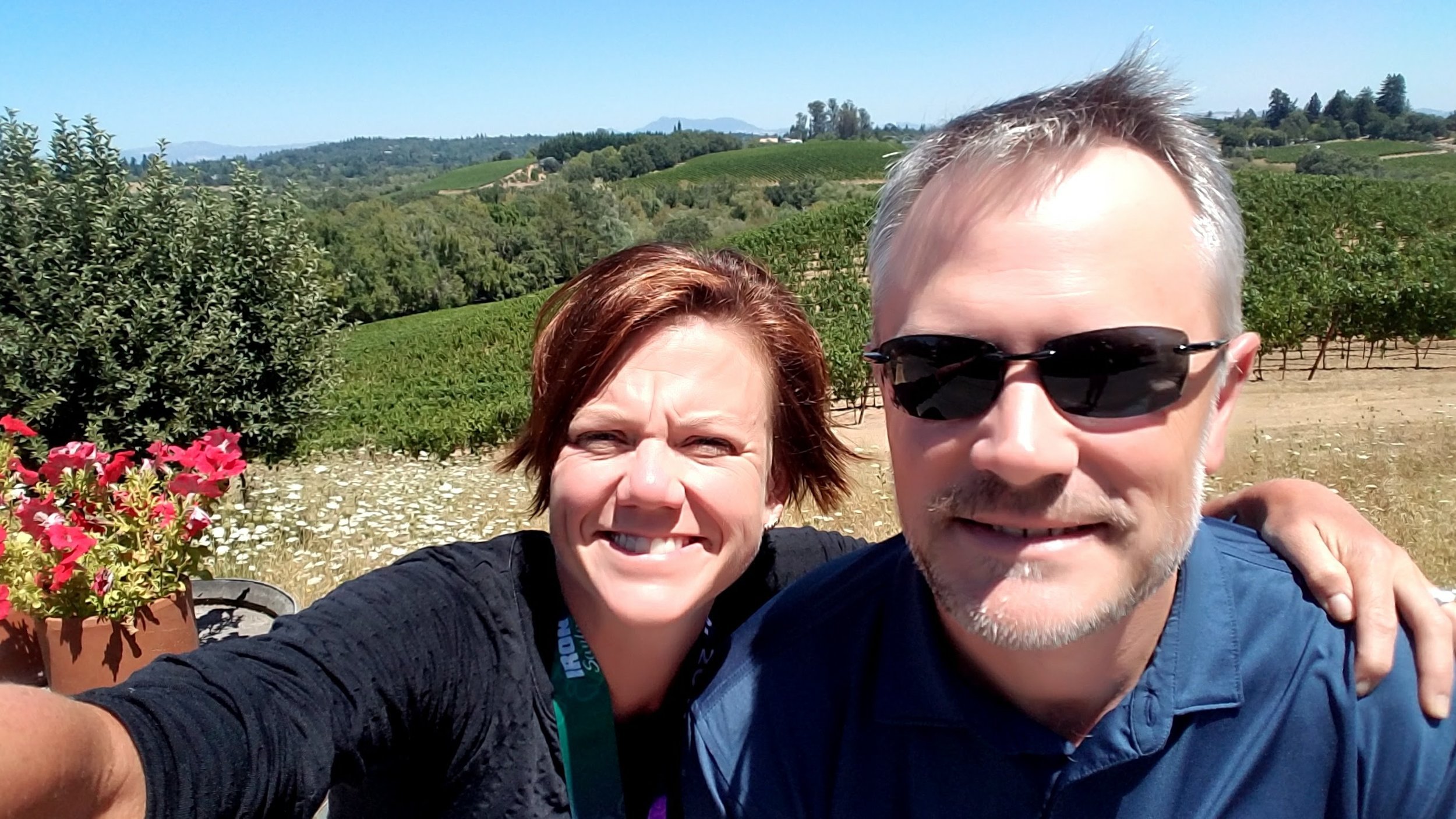 Me and Honey at the Iron Horse Vineyard.