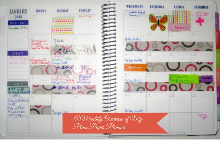 Monthly Overview of Purposeful Planning