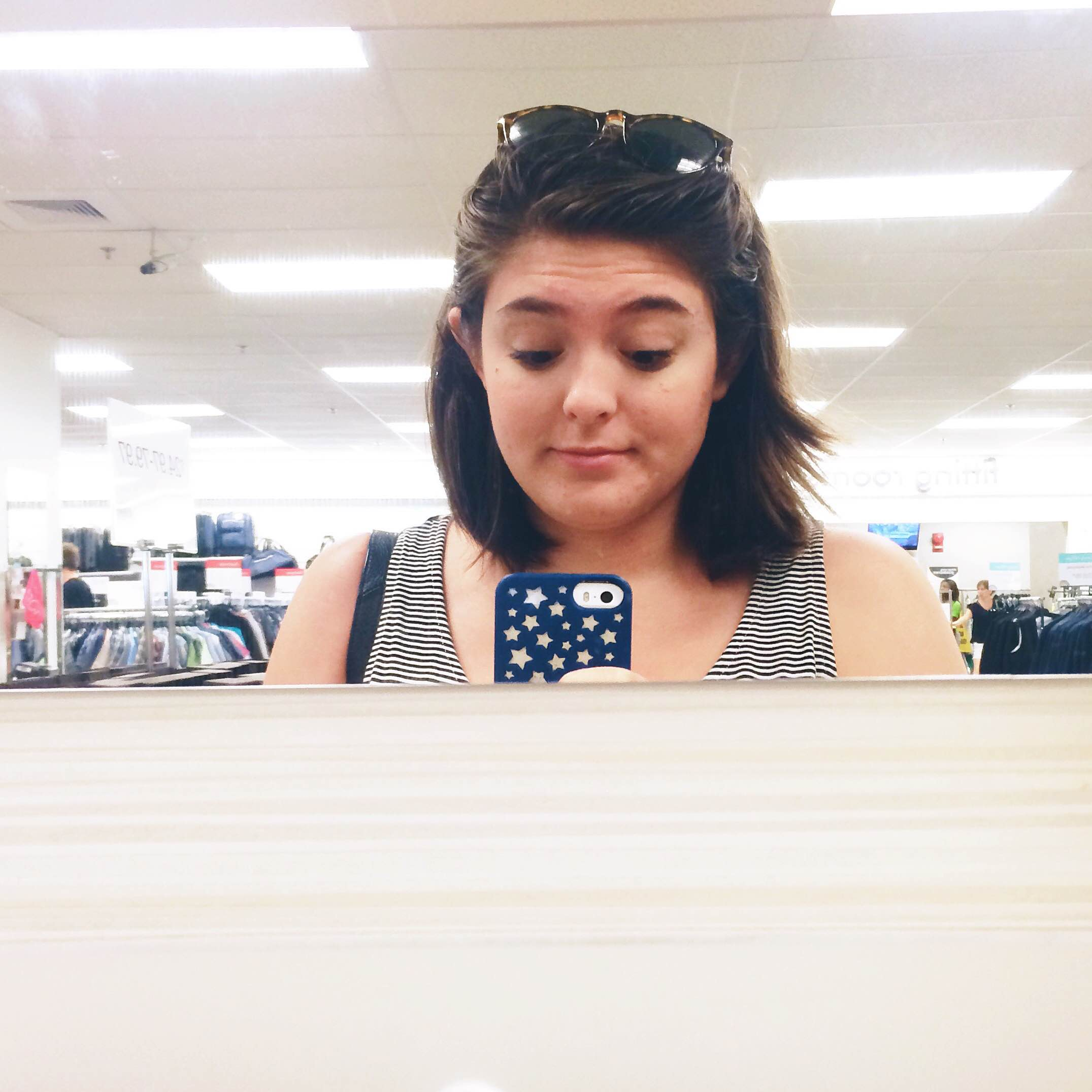 Deciding to love myself in this random store - anxiety, acne, and all.