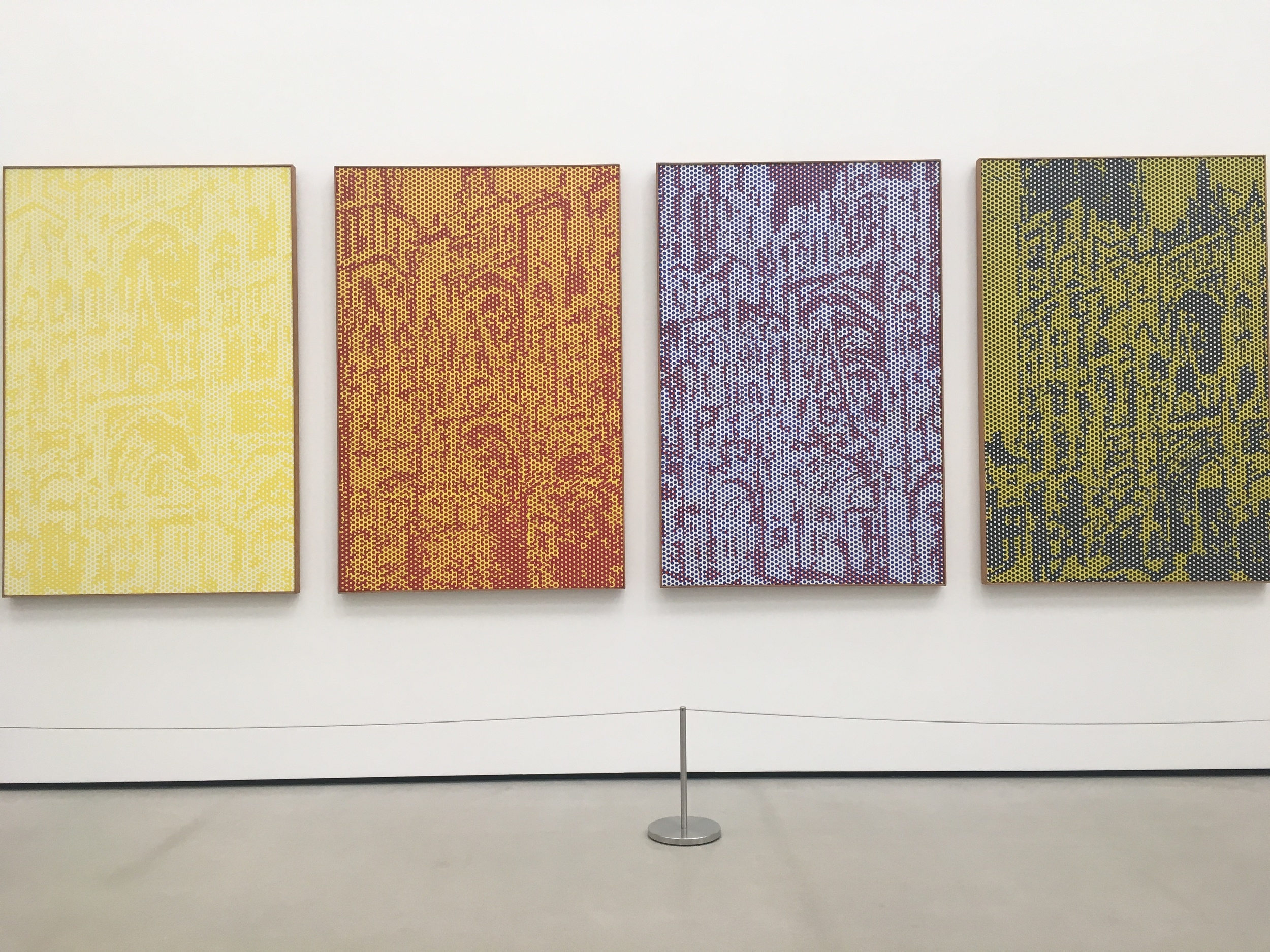 Roy Lichtenstein's take on my favorite paintings of all time - Monet's Rouen Cathedral series. It is so cool to see other artists loving and being inspired by the same work that I love and am inspired by.
