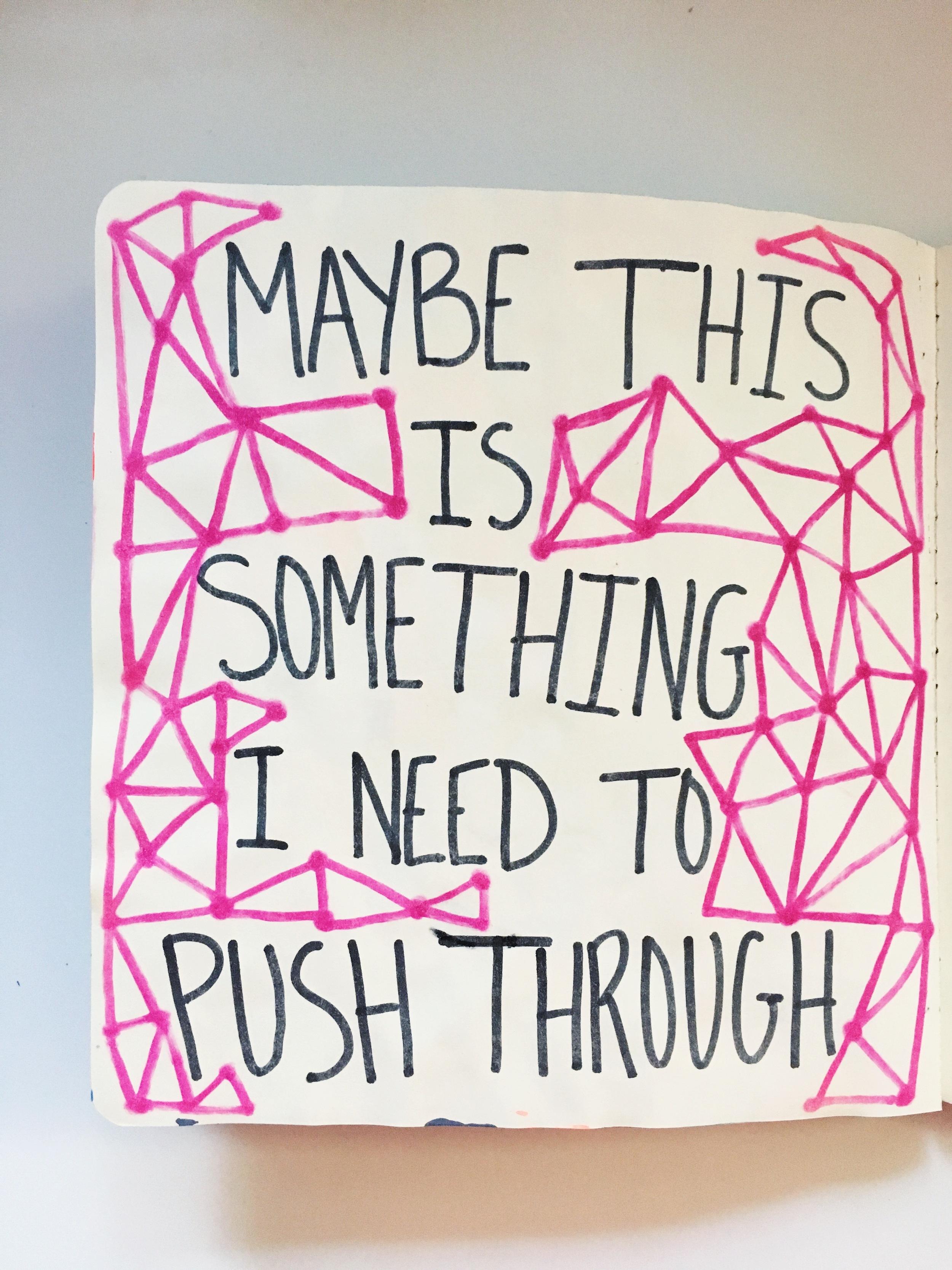 Anything Goes Art Journal Push Through