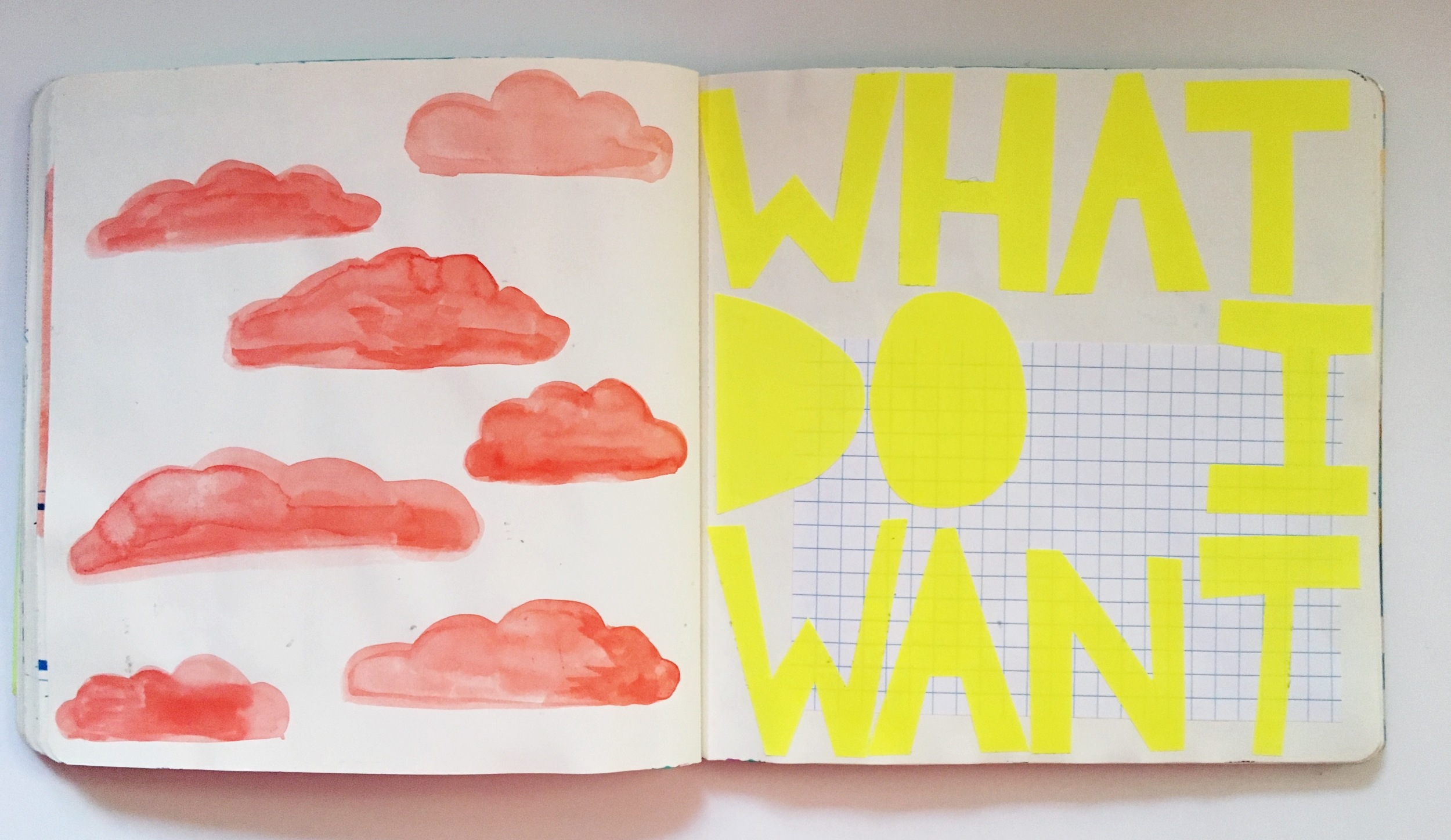 Anything Goes Journal Orange Clouds