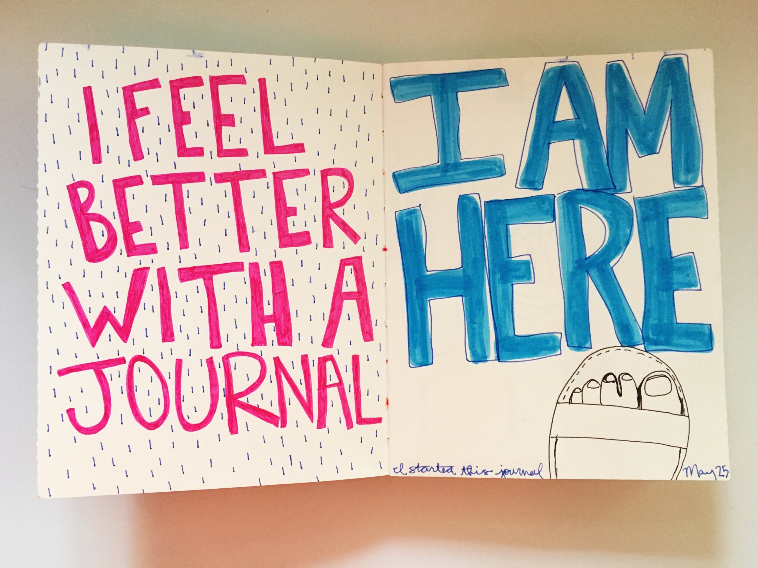 Feel better with an art journal