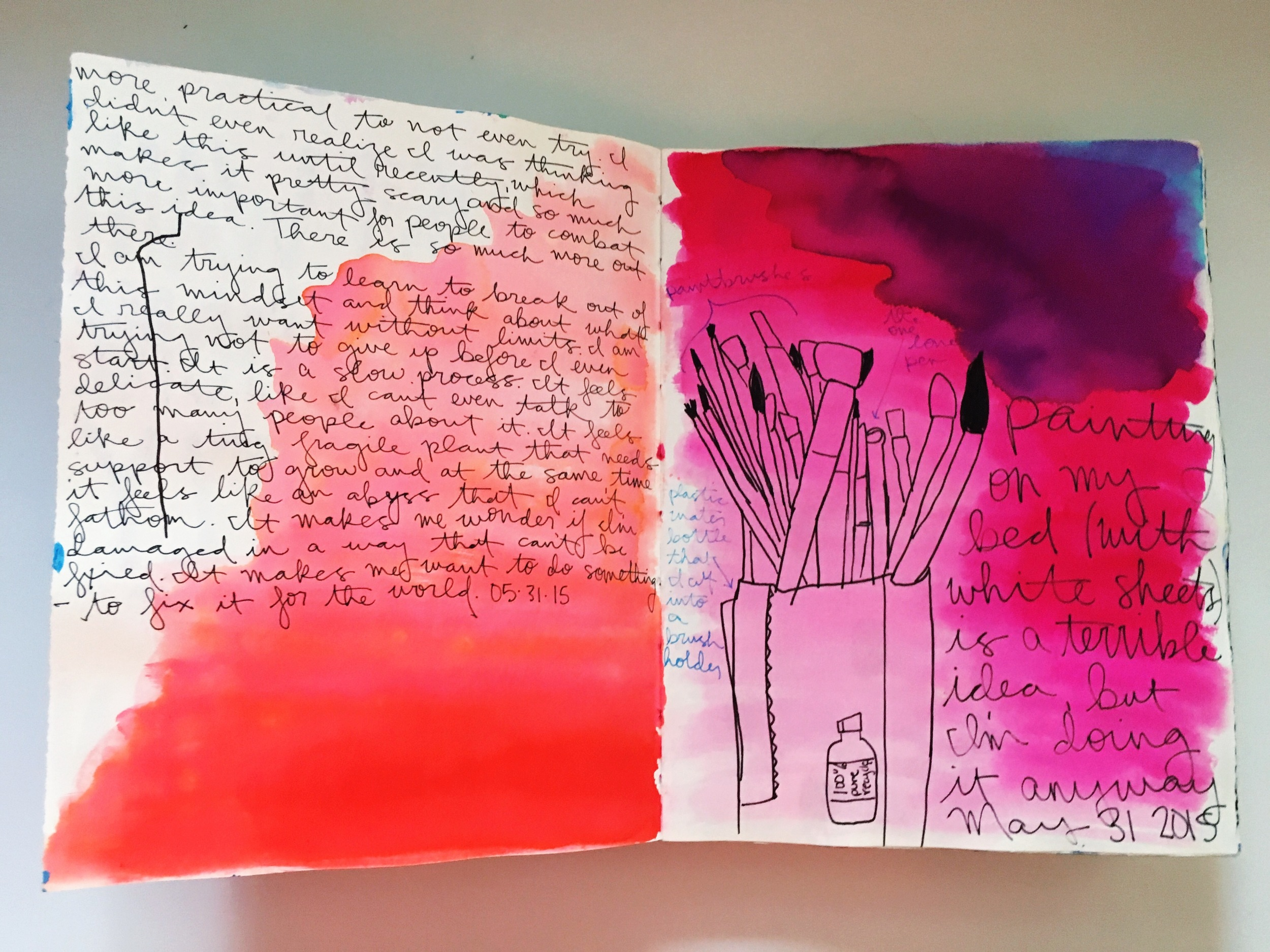 Art Journal Watercolor Wash