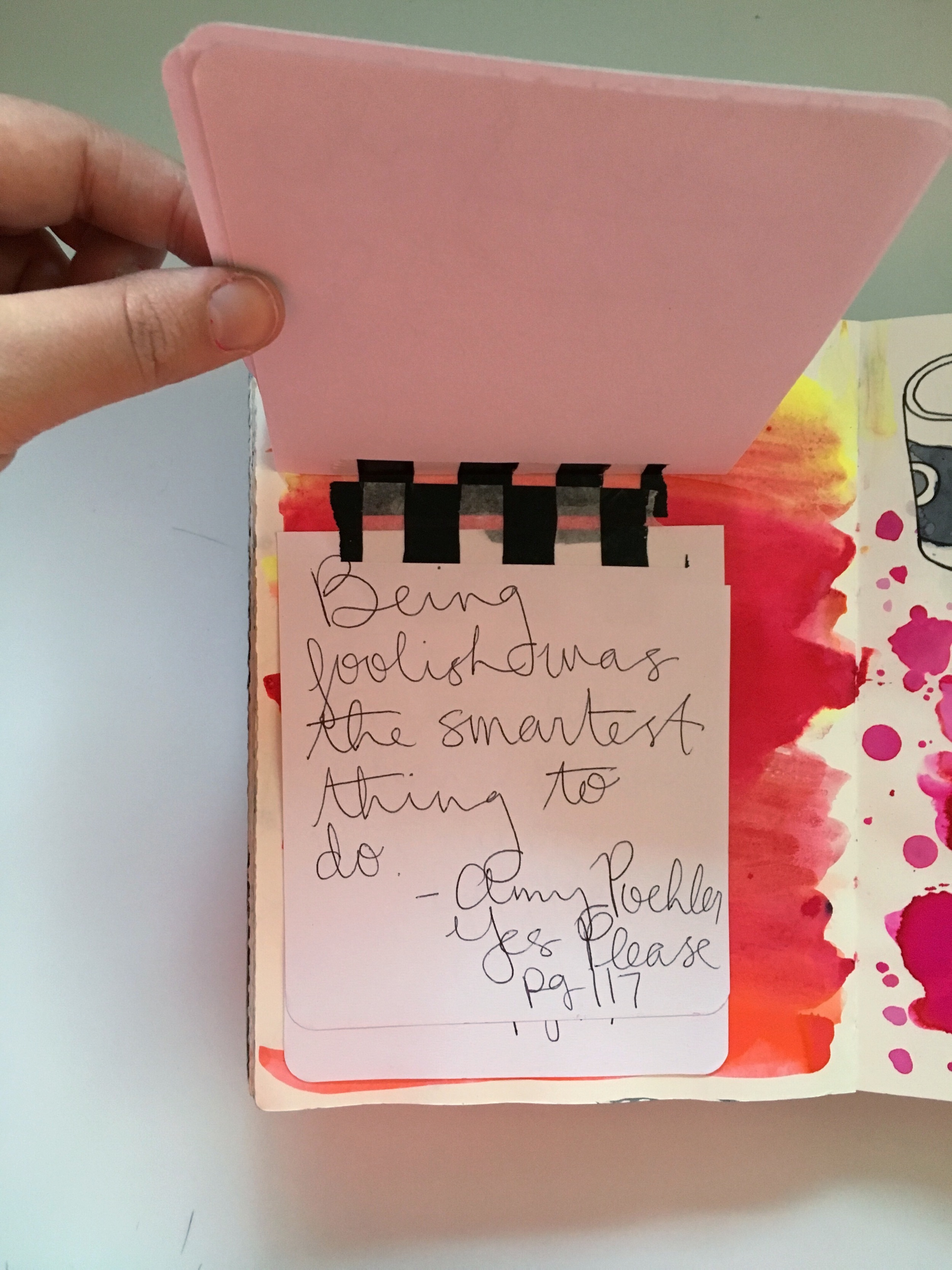 Art Journal Yes Please Quote