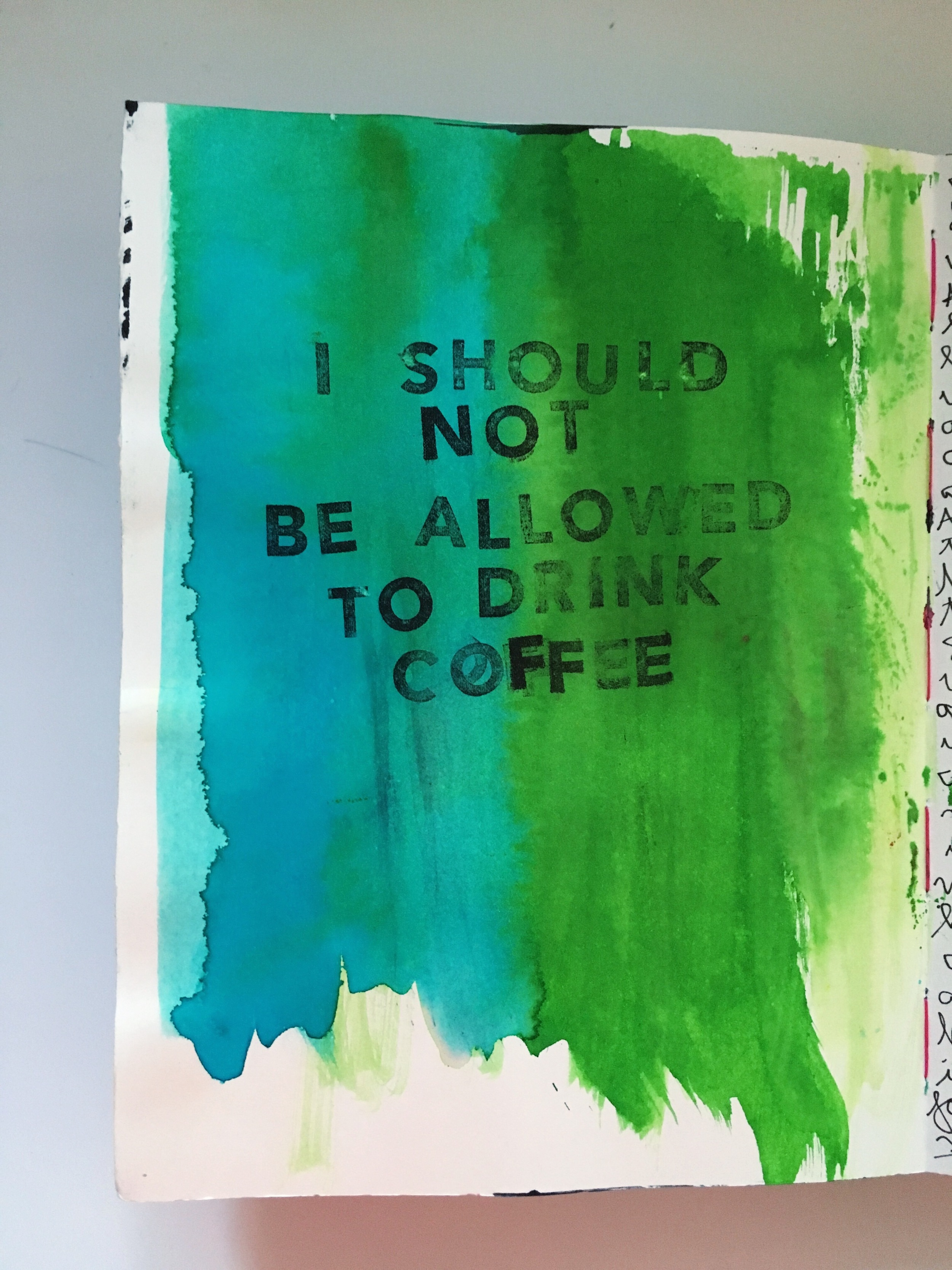 Art Journal Page Coffee