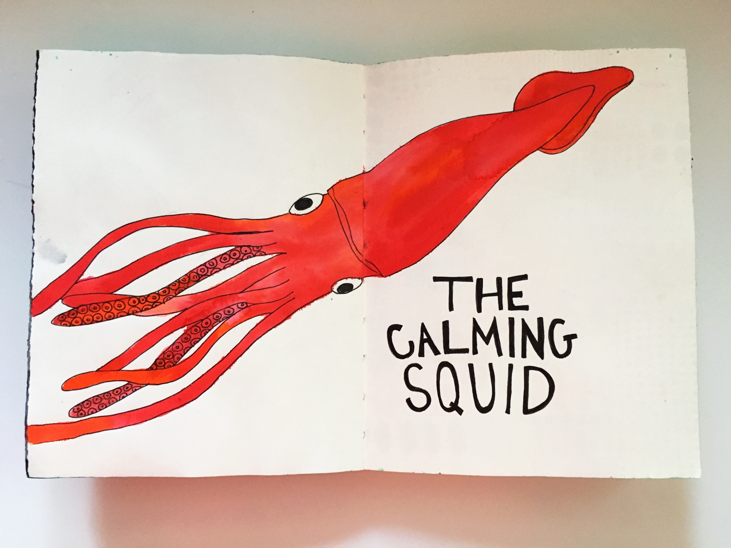 Art Journal Calming Squid