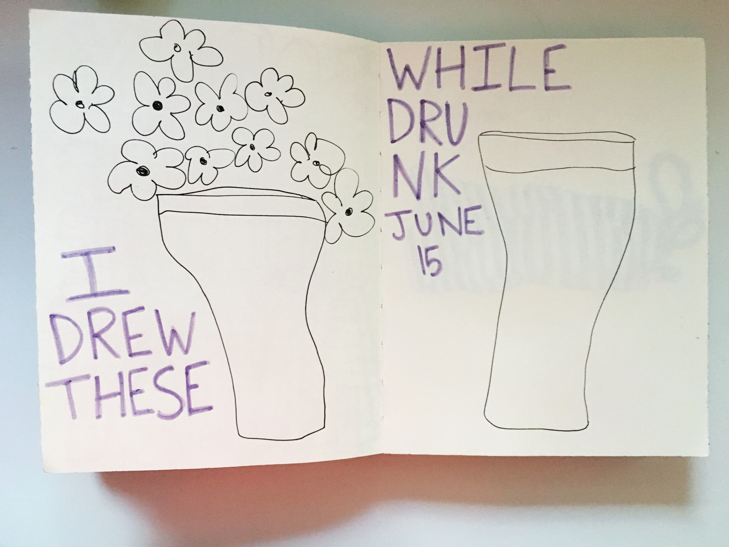 Art Journal Drunk Drawing