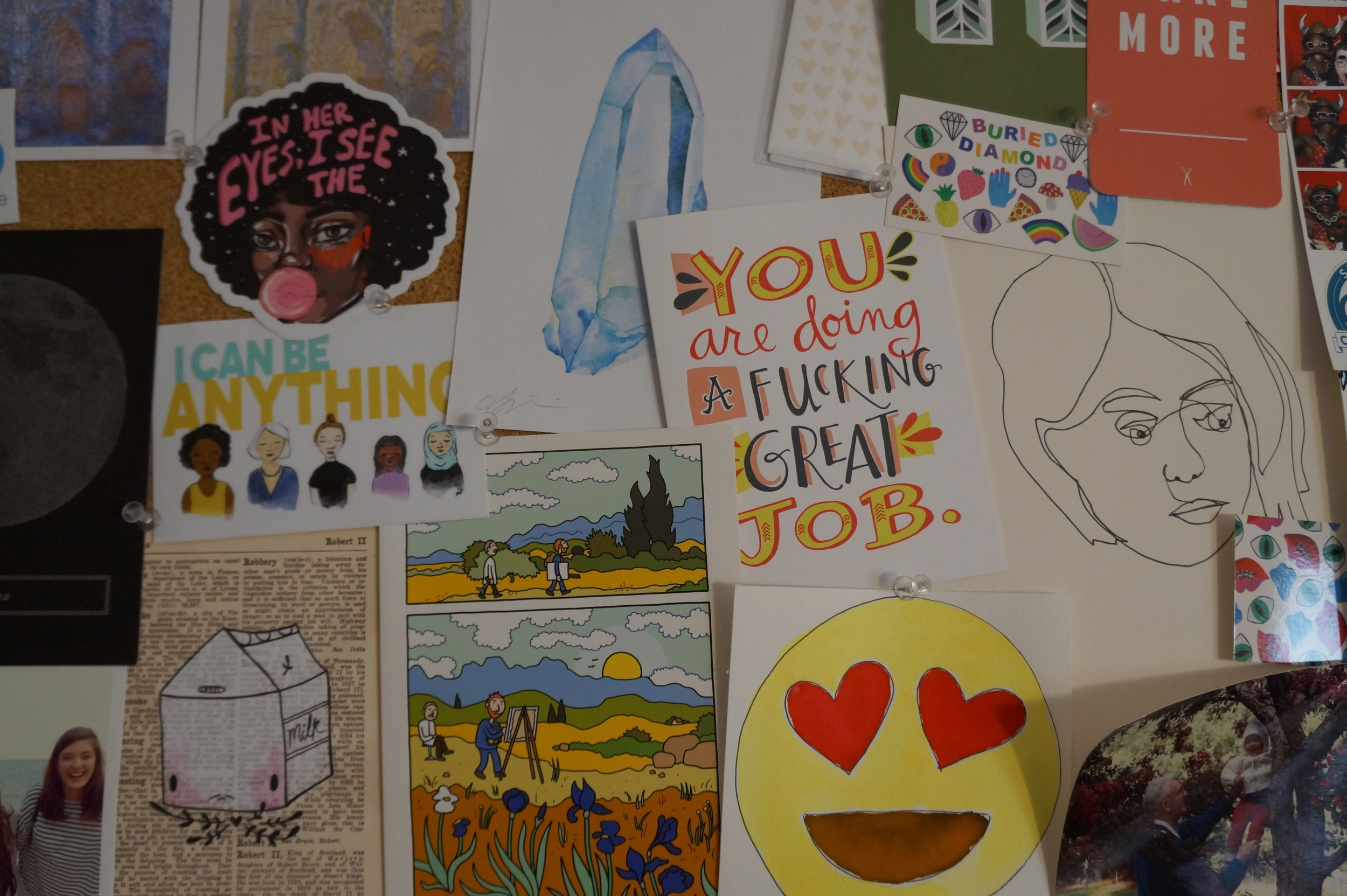 Inspiration board close up
