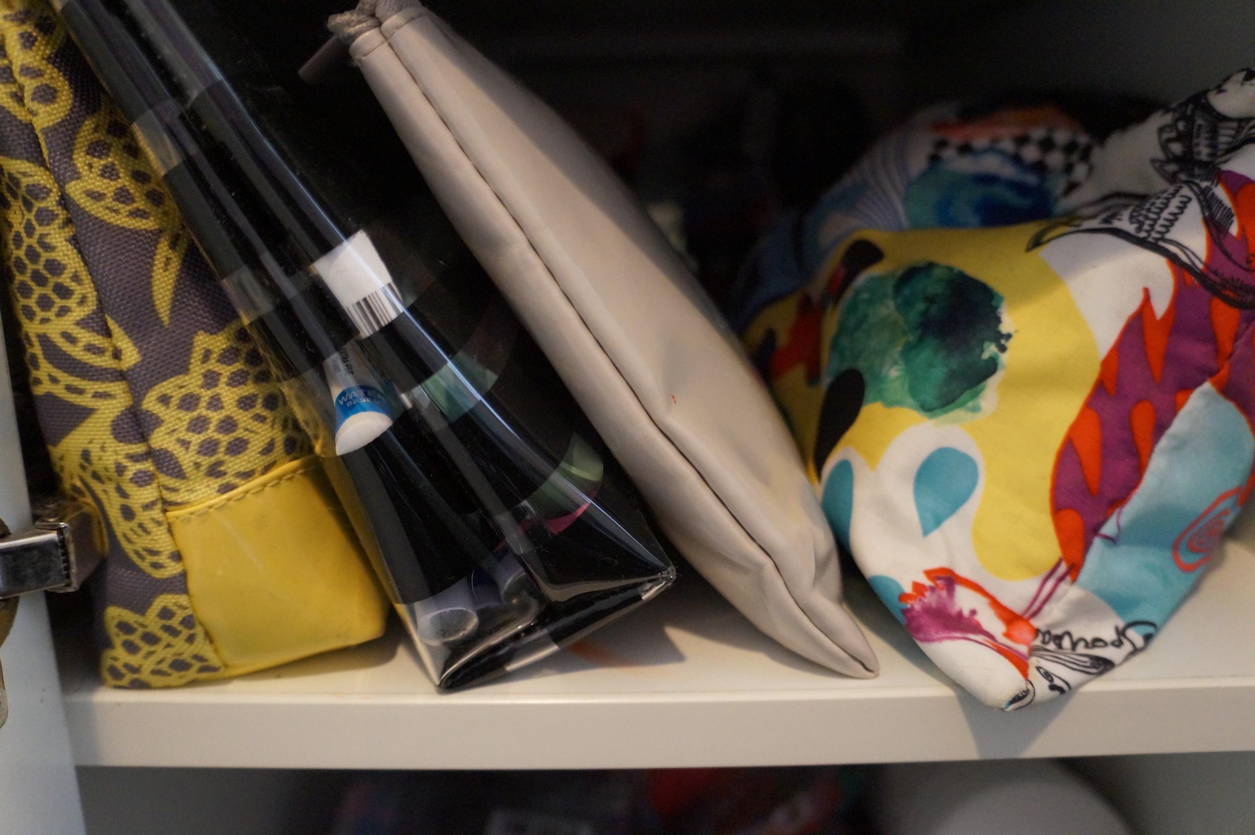 Workspace storage pouches