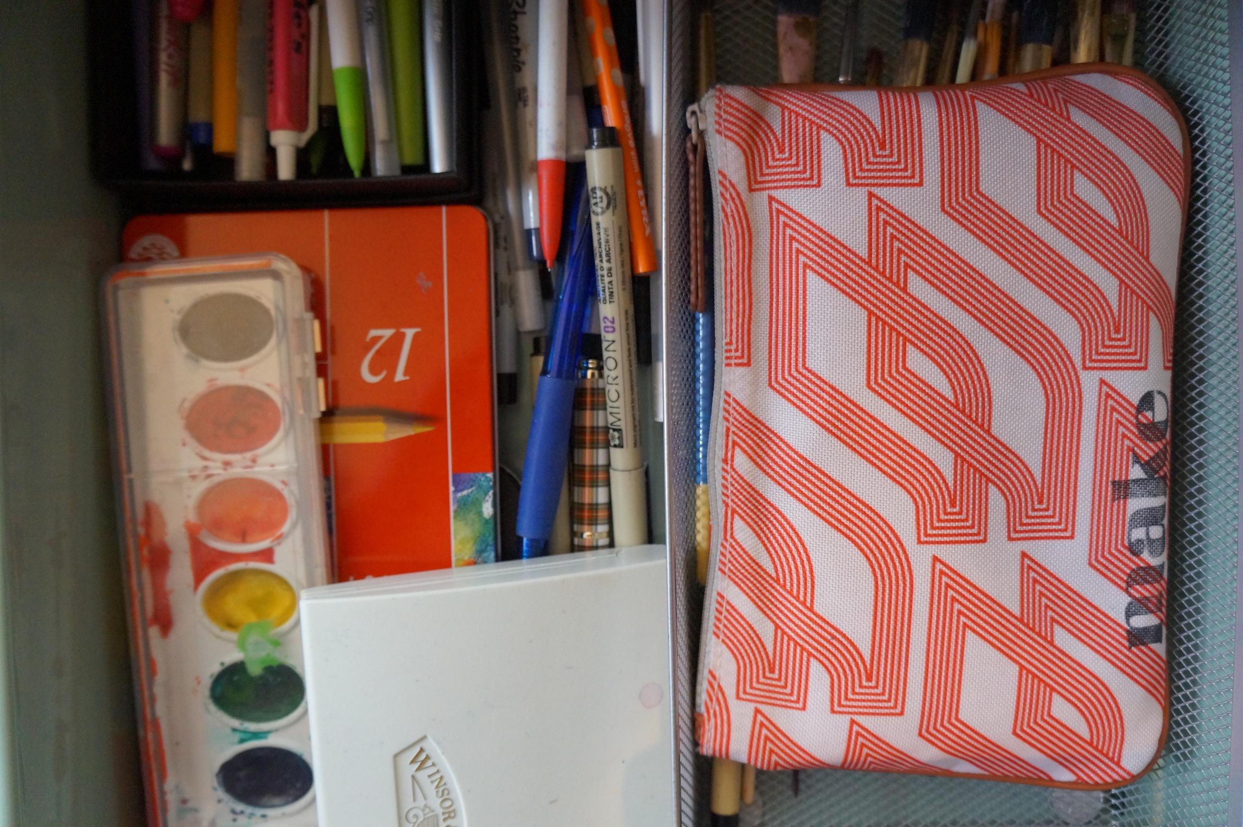 Workspace inside art drawer