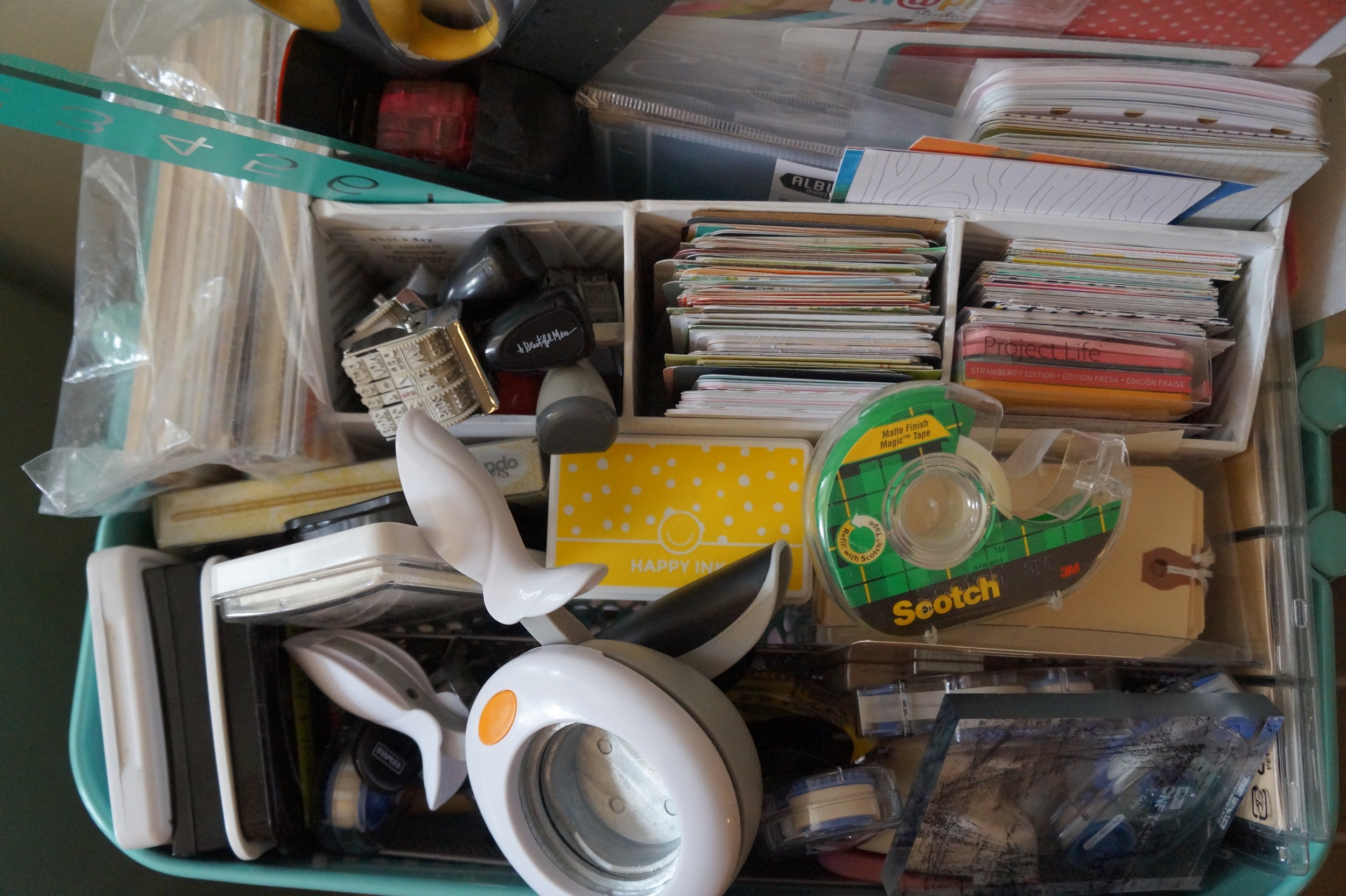 Workspace art storage mess
