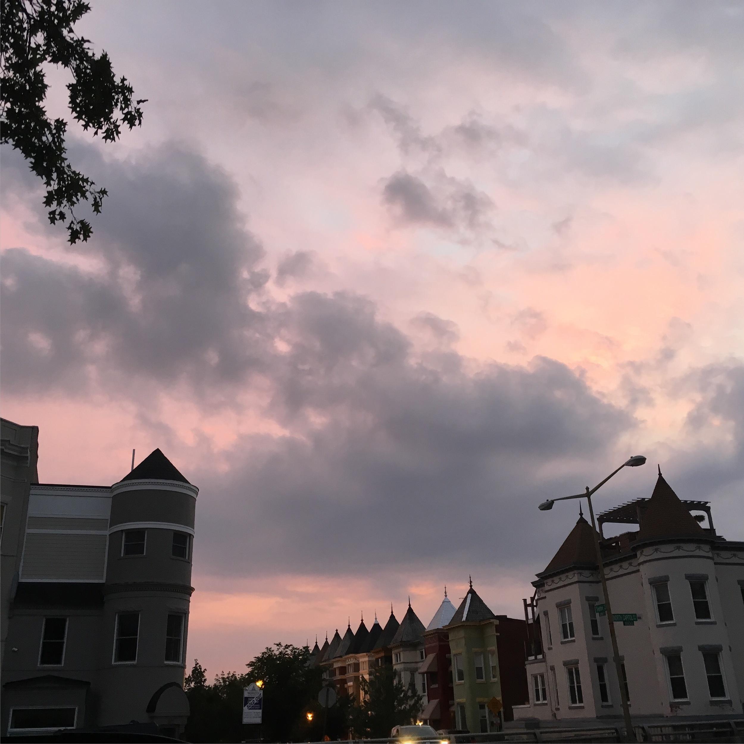 Washington DC Bloomingdale Sunset