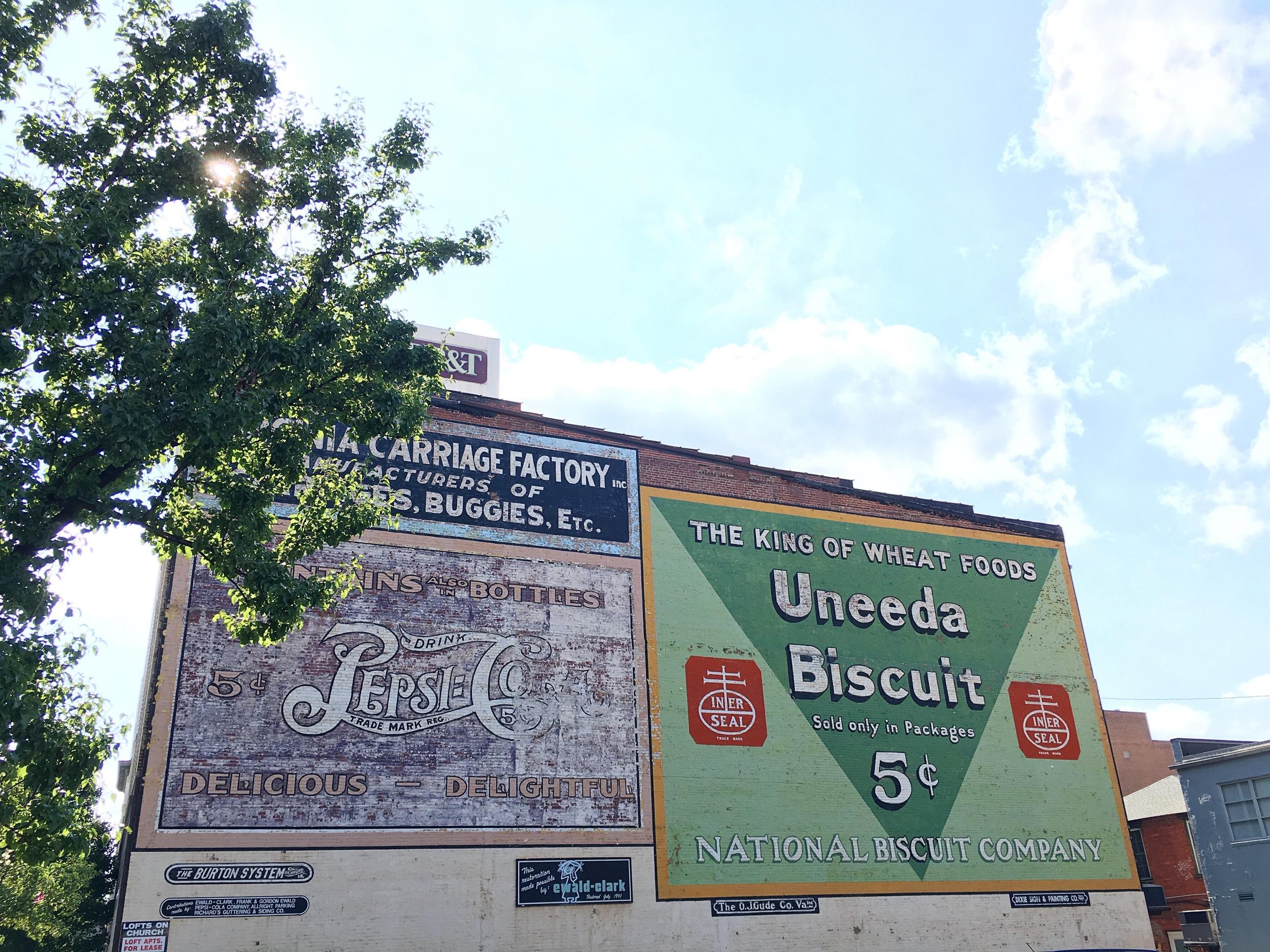 Roanoke VA painted advertisements