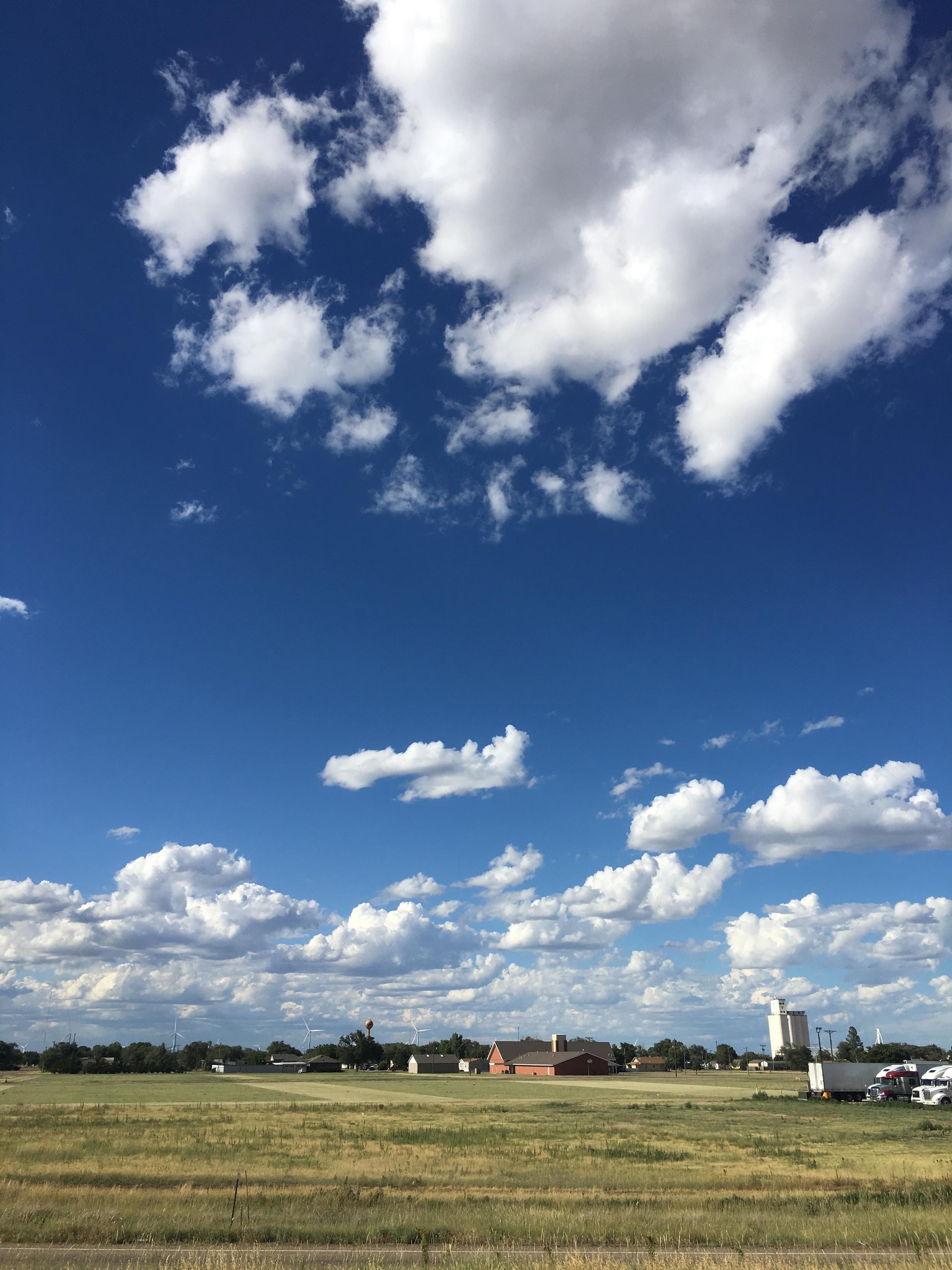 Texas landscape clouds