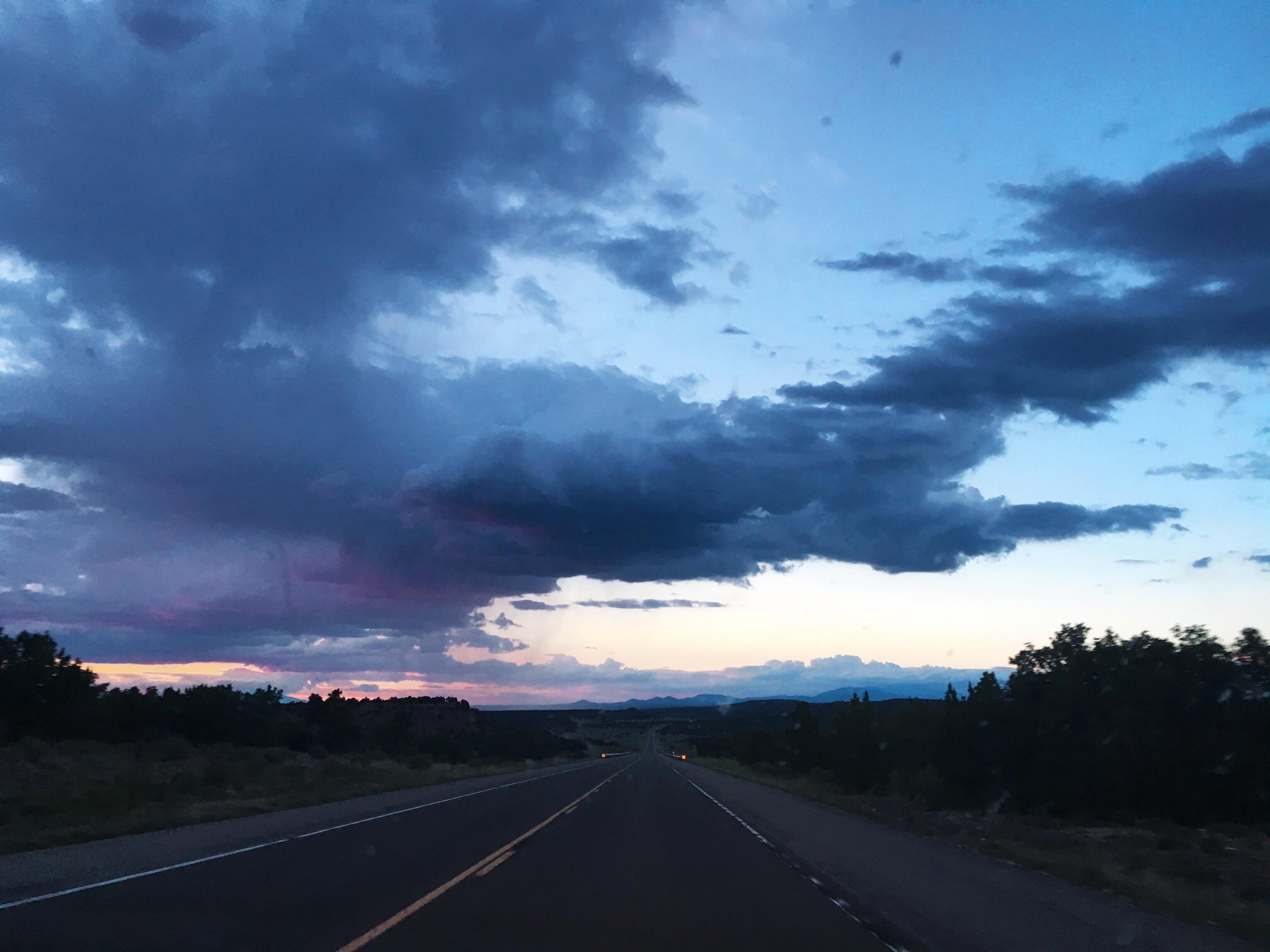 Santa Fe sunset road