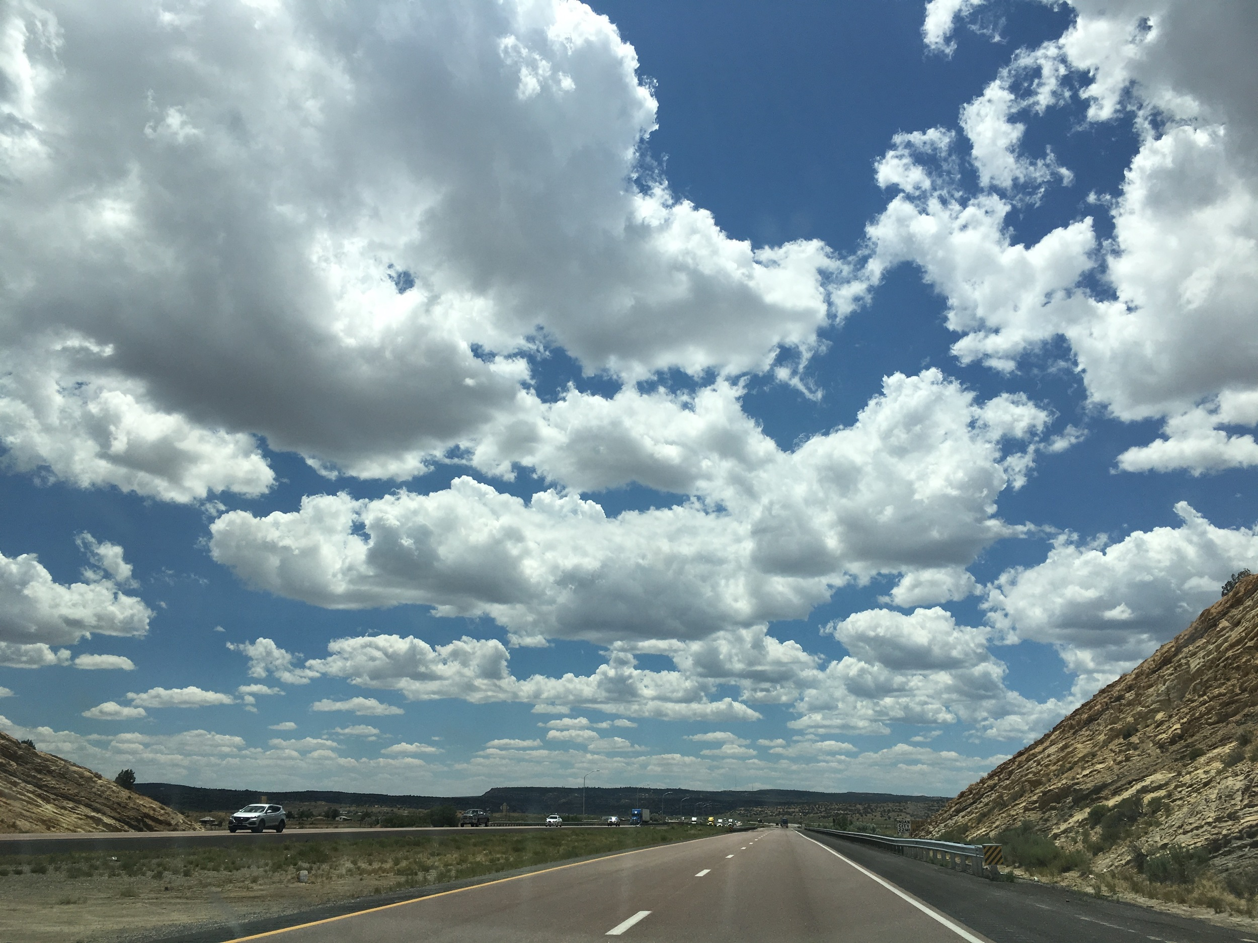 Gallup Fluffy clouds