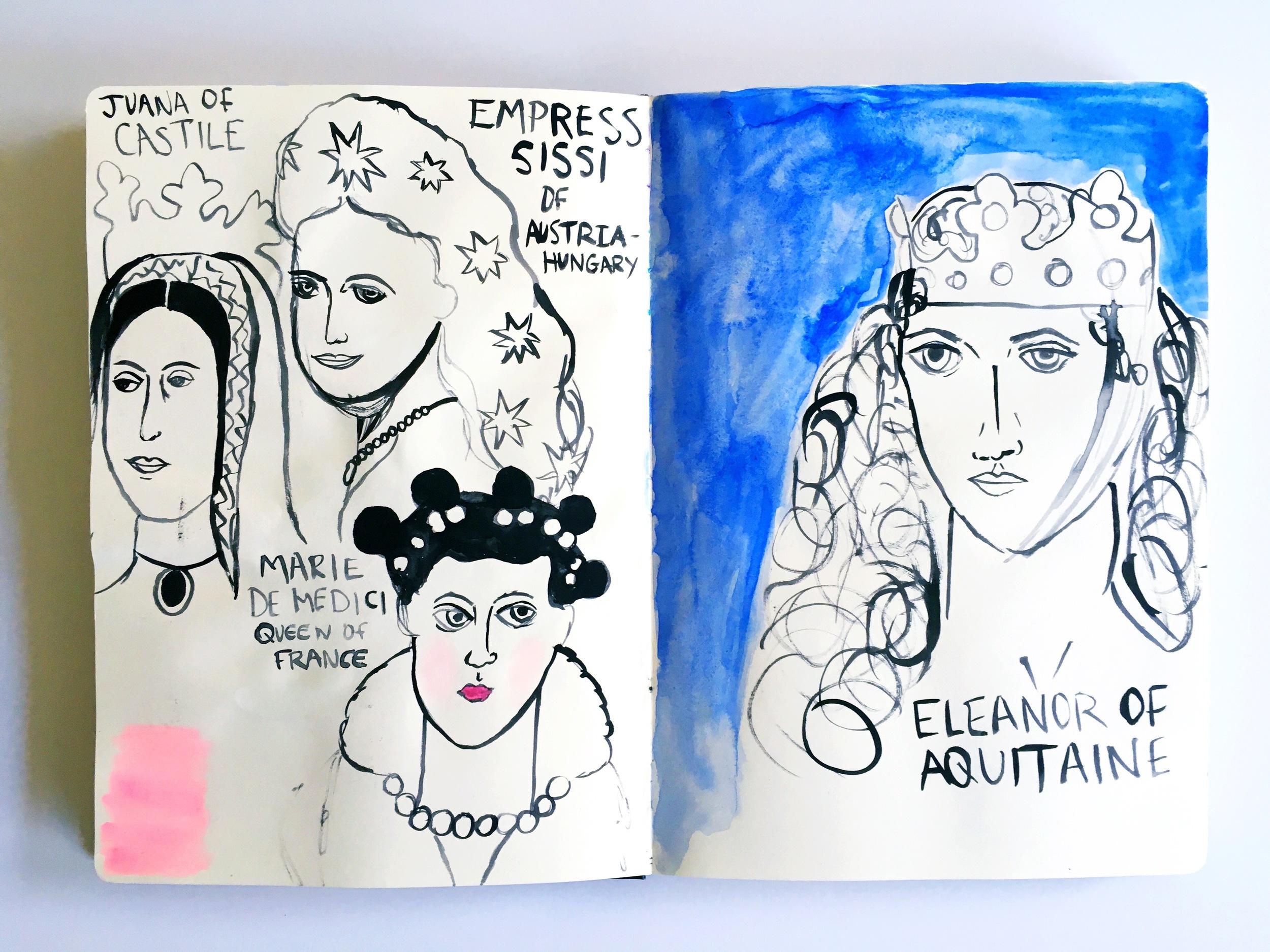 Haley Aubuchon European Queen Watercolor