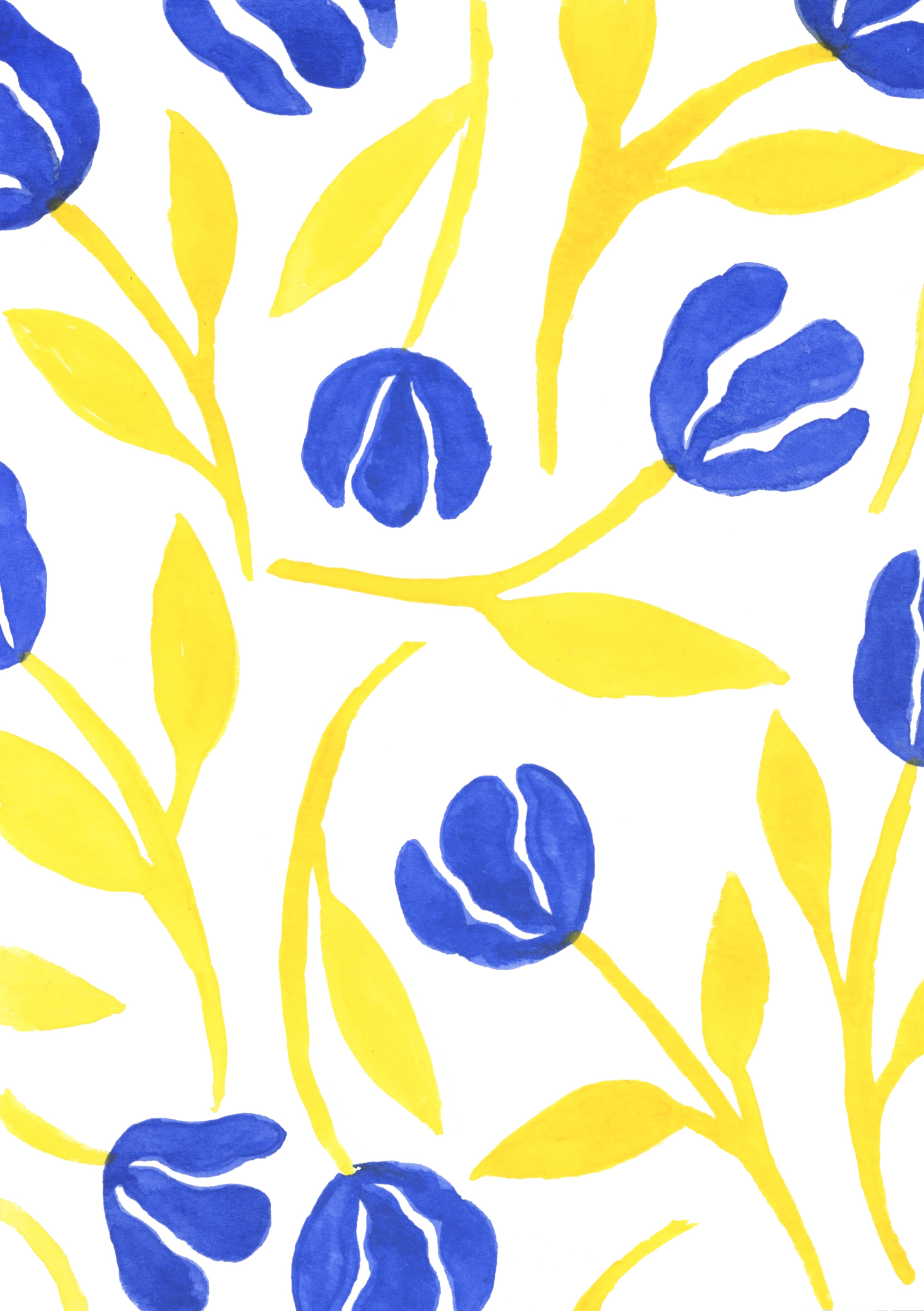 Blue and Yellow Fleurs Pattern.jpg