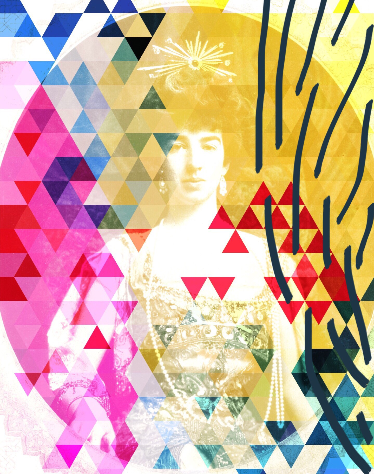 creative block digital collage