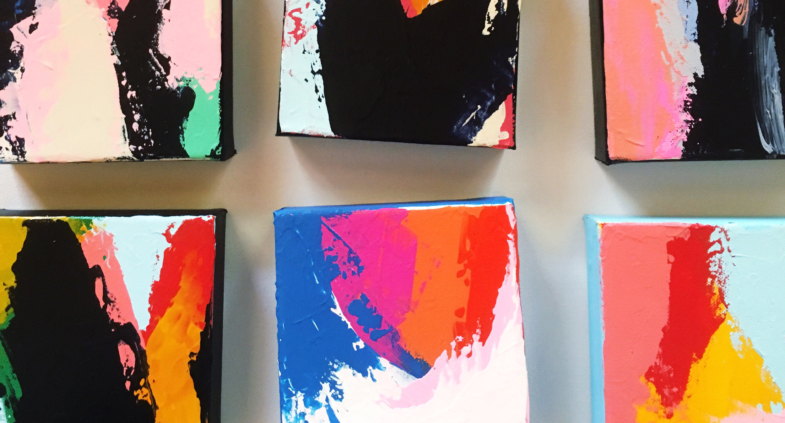 Intervals Abstract Paintings