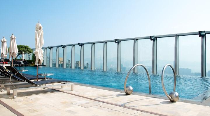 The 73rd Floor Pool at the W Hong Kong.