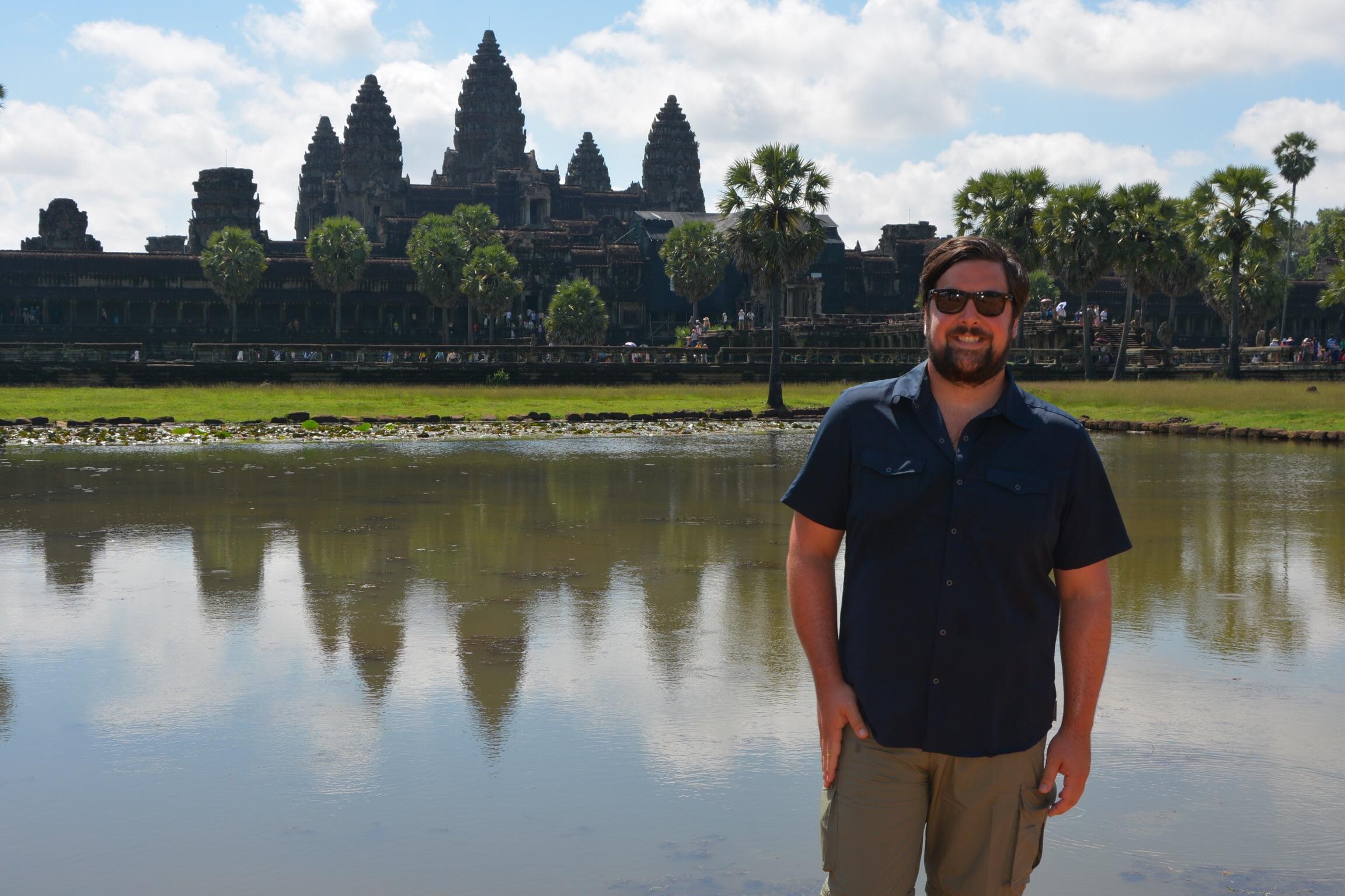 Outside Angkor Wat