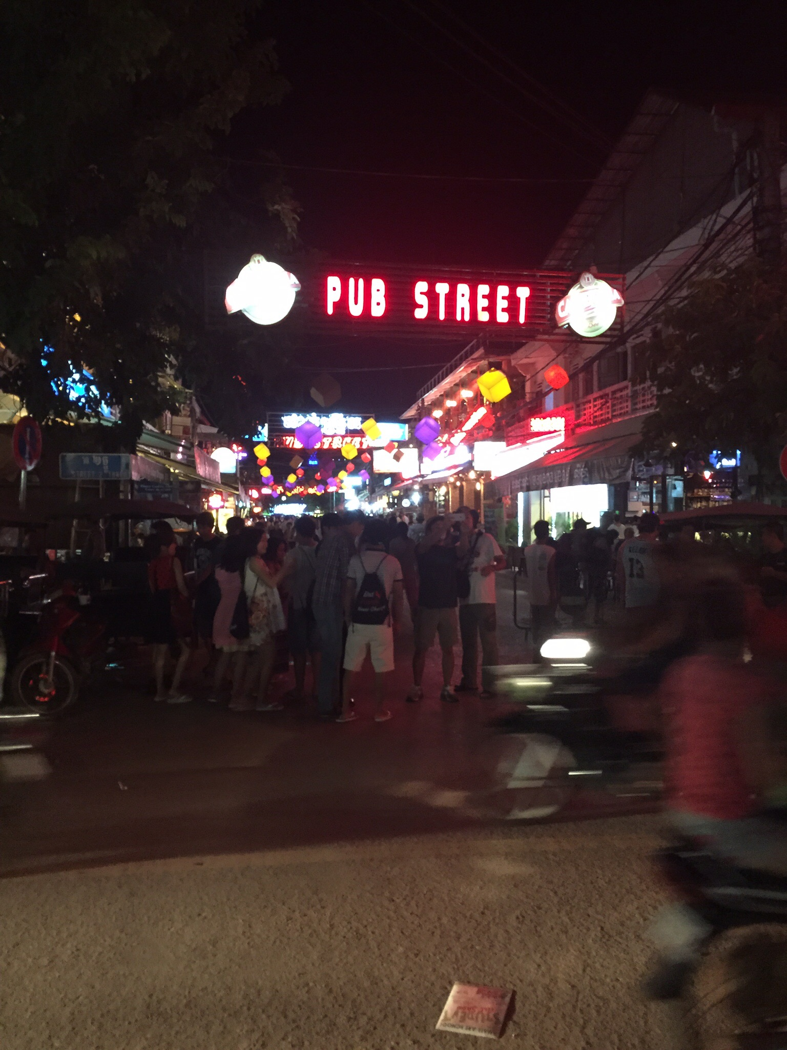 Pub Street, a collection of bars and nightlife in Central Siem reap.