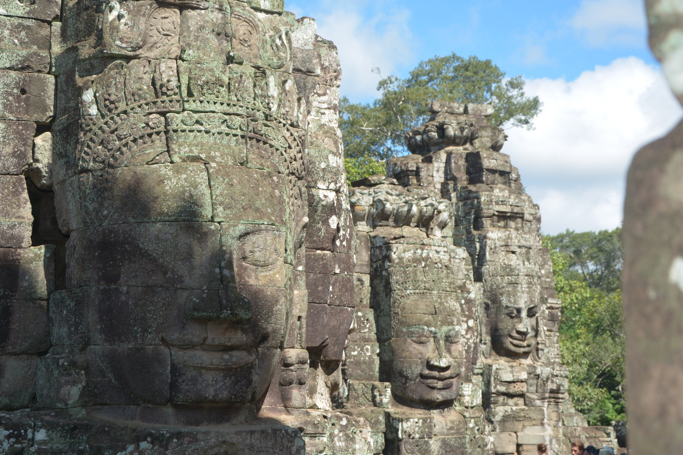 Just 3 of the over 200 faces at Bayon Temple.