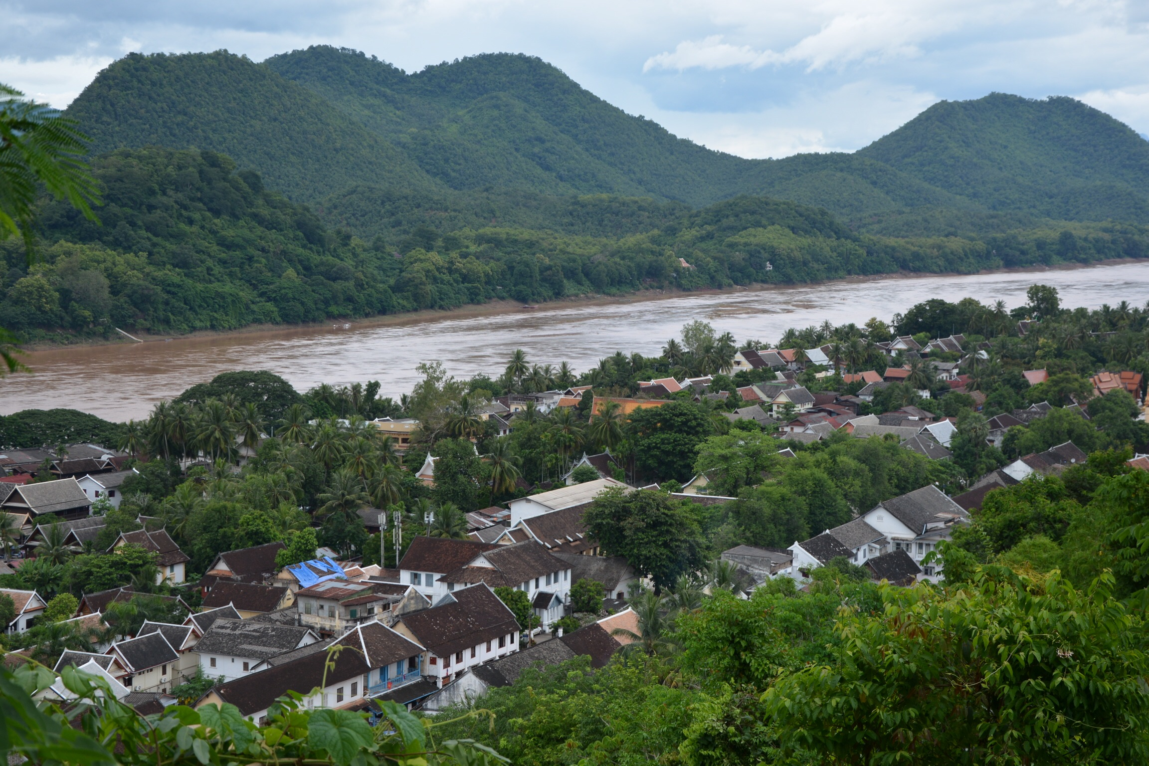 View of central Luang Prabang and the Mekong from Mount Phou Si.