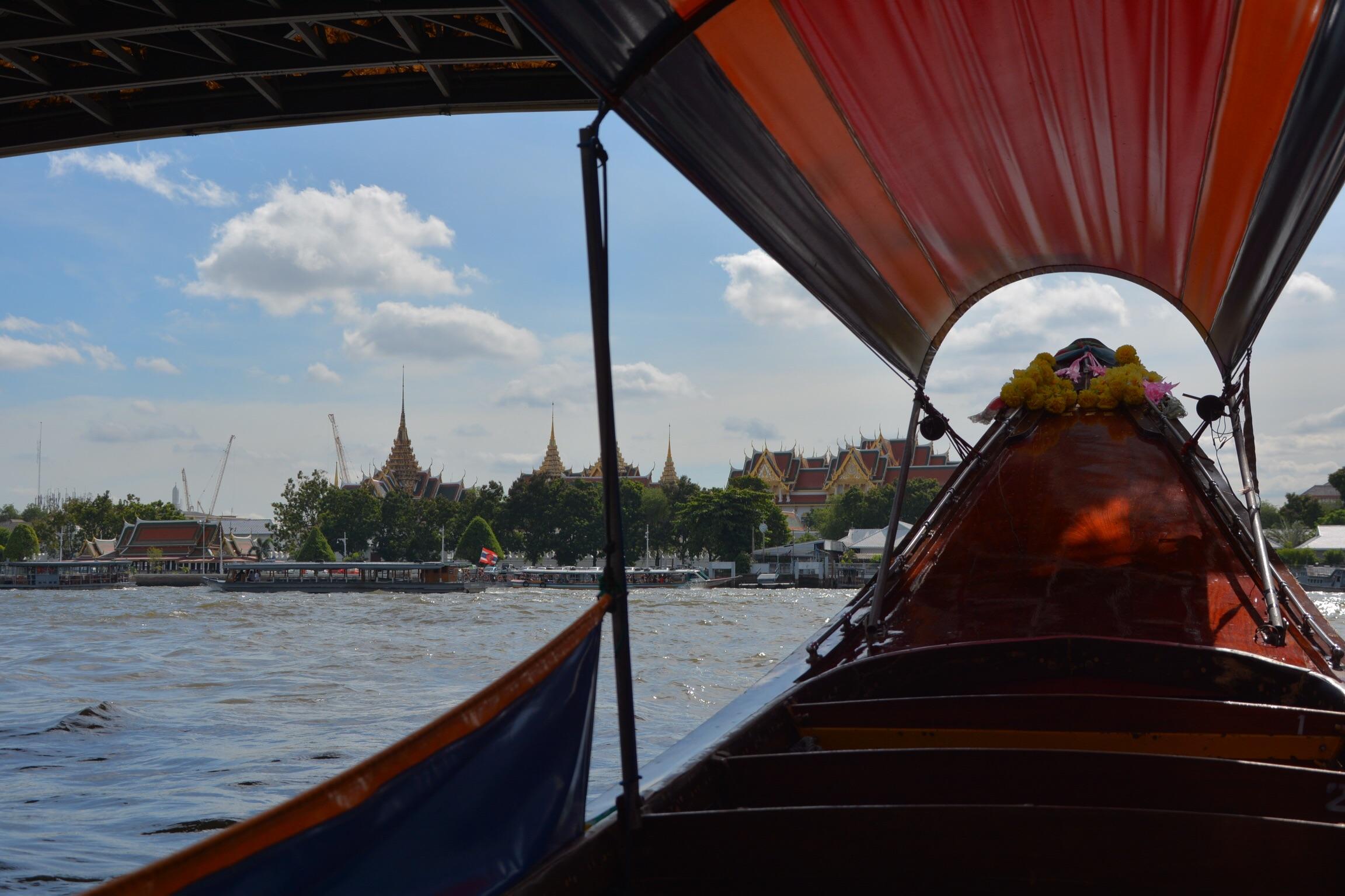 Longboating through Bangkok.
