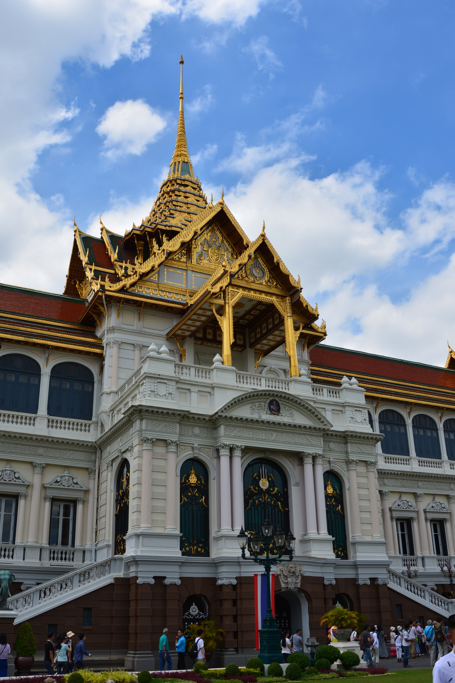 Mix of European and Asian styles at the Grand Palace.
