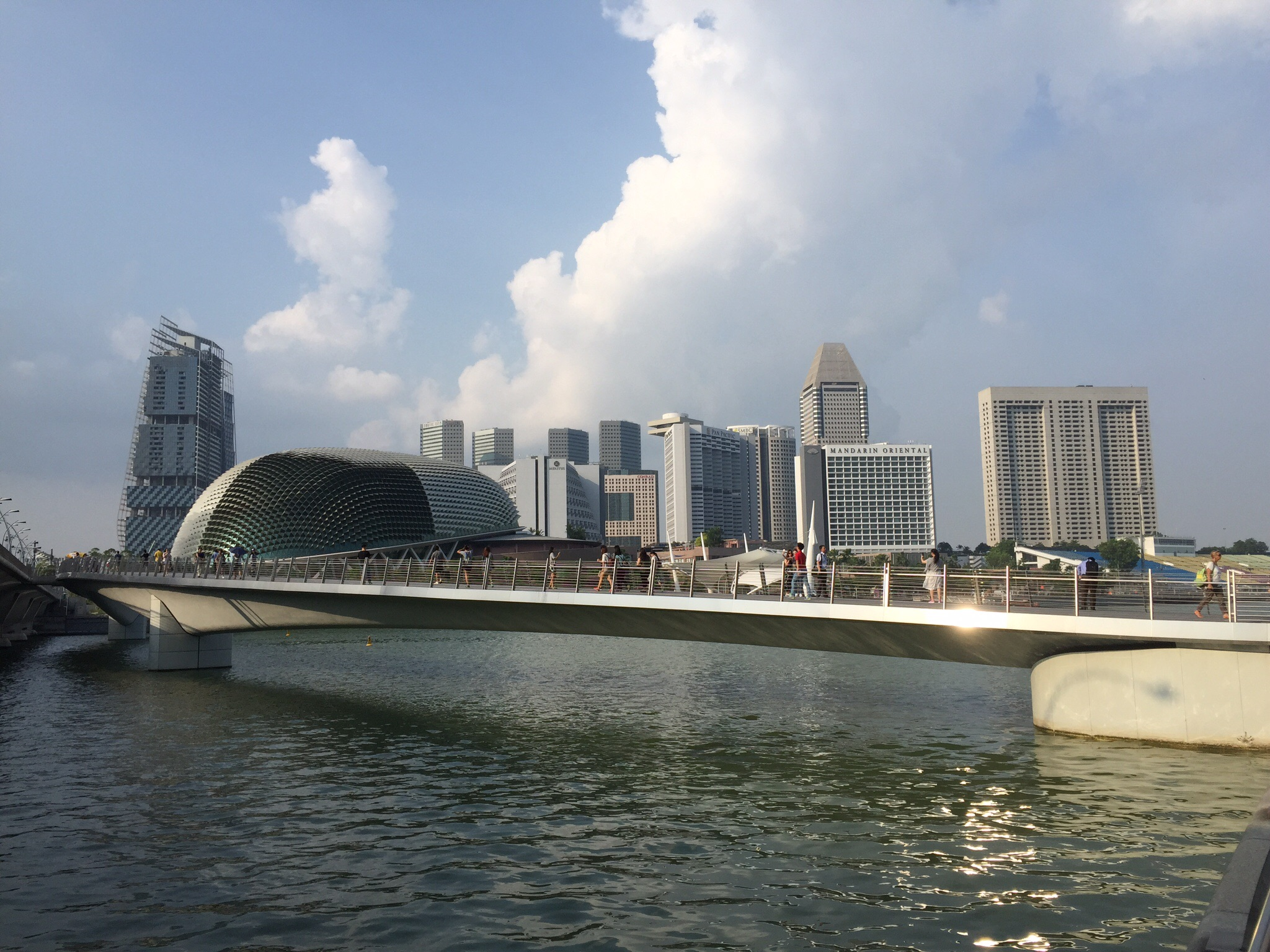 Part of Marina Bay path in Singapore.
