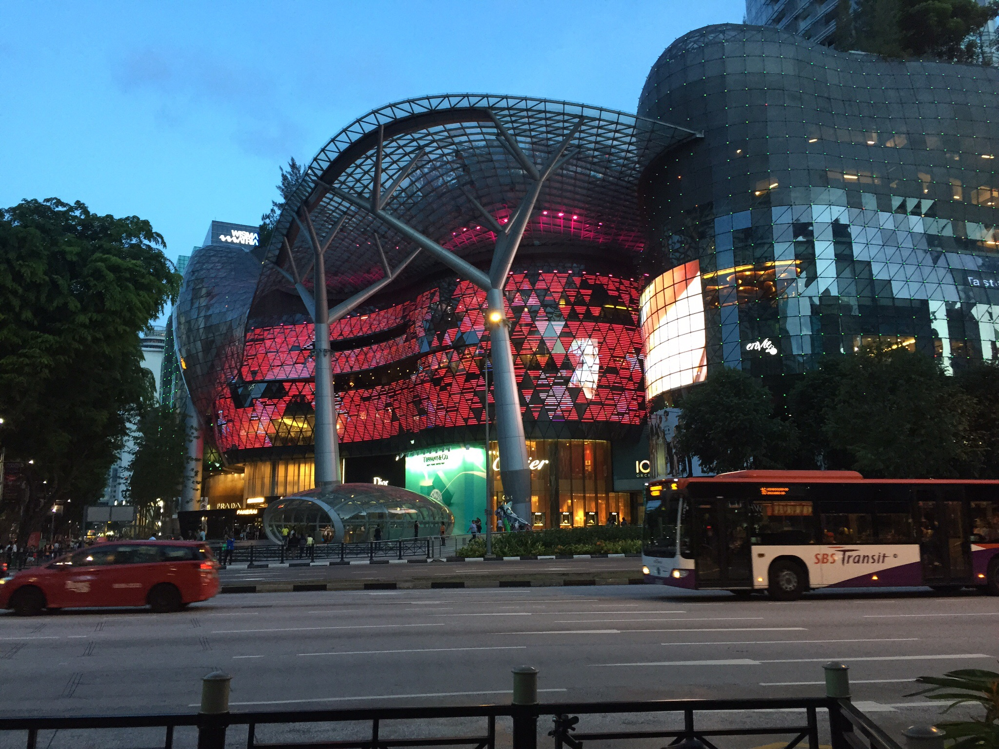 Singpore shopping district, full of malls and high end shops.