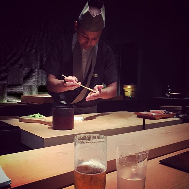 Closed out my last night abroad with the sushi experience of a lifetime. #treoninasia