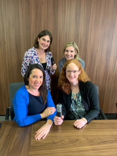 9-2-3's Helen recording our first 'Flexibly Speaking' podcast with the employment law team at Knights PLC.