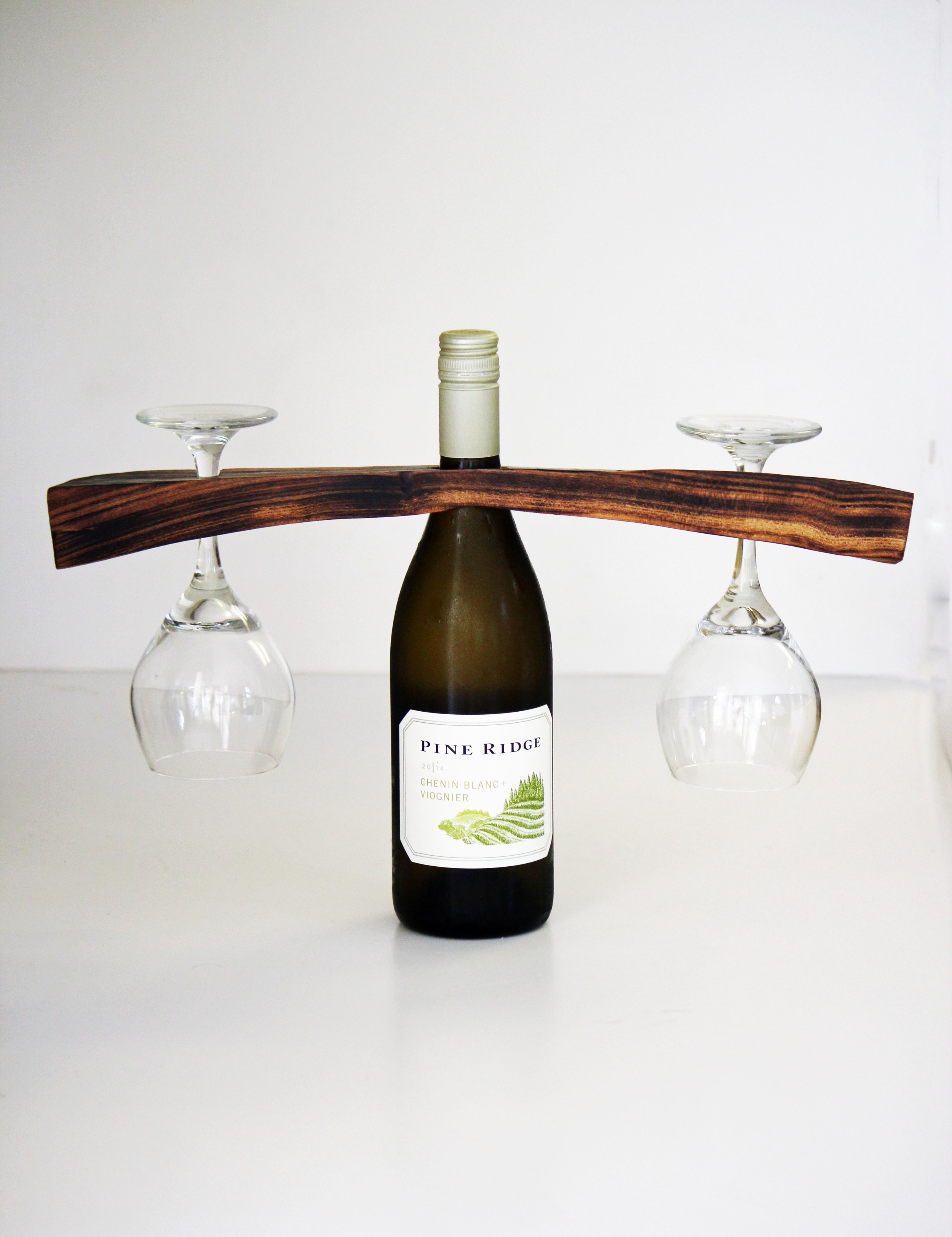 Diy Wine Bottle Glass Holder Hello Honey