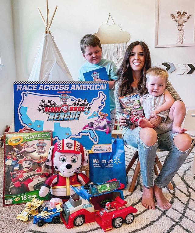 We are so excited to be a stop on PAW Patrol's RACE ACROSS AMERICA tour! #ad The pups are celebrating the brand new #PAWPatrol Ready, Race, Rescue DVD, toys, and more ONLY available at @Walmart! They gave us a mission to donate unwanted clothes and toys to a local shelter before receiving the collection as a reward. Be sure to follow along with #PAWatWalmart and don't forget to visit the Pups' next stop @whitneyeveport as they make their way to Richmond, VA on 9/21! Sharing more of the fun on stories! @nickjr