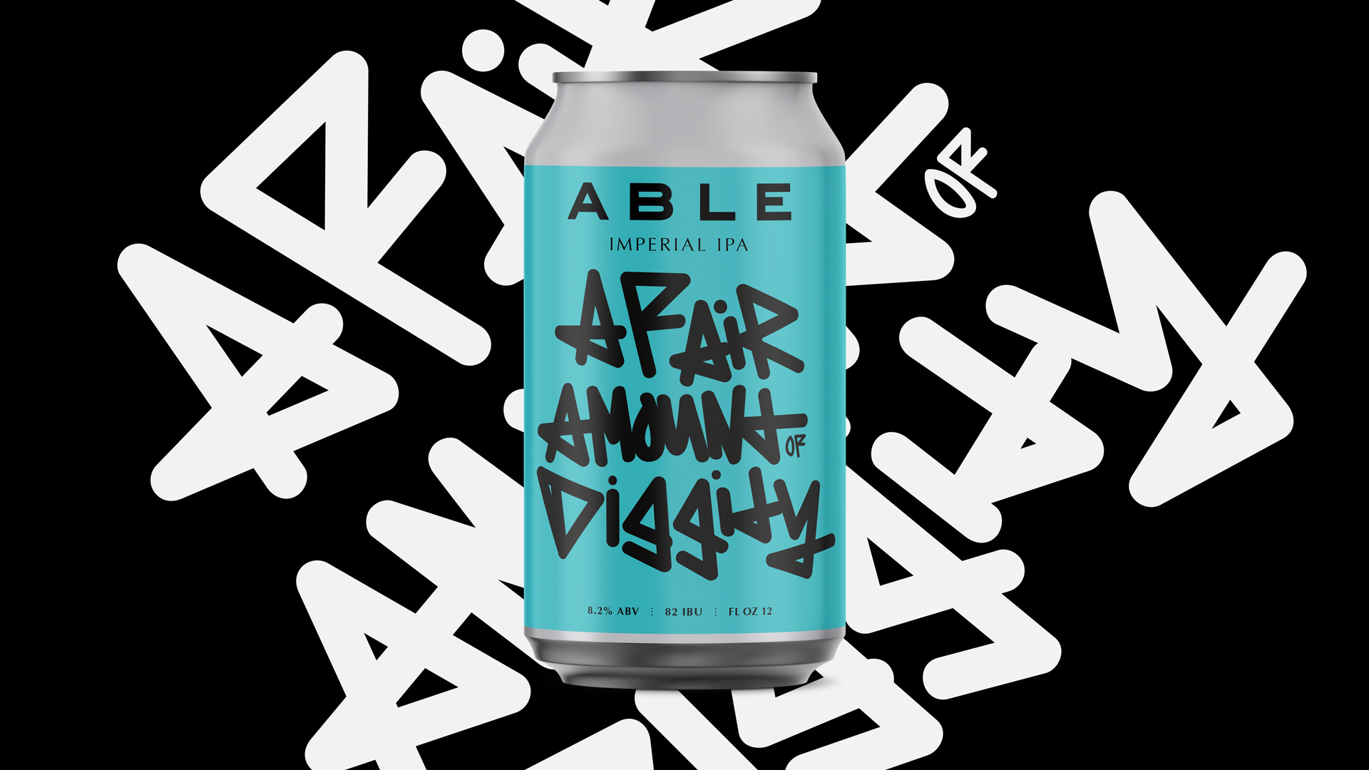 Able beer can design by Tony Buckland.