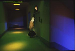 Faltworld Matt waiting for elevator