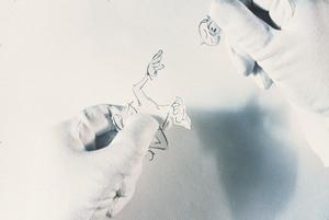 The artist hands