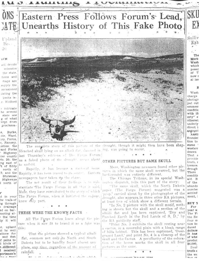 """Rothstein's photo in the """"Fargo Forum"""""""