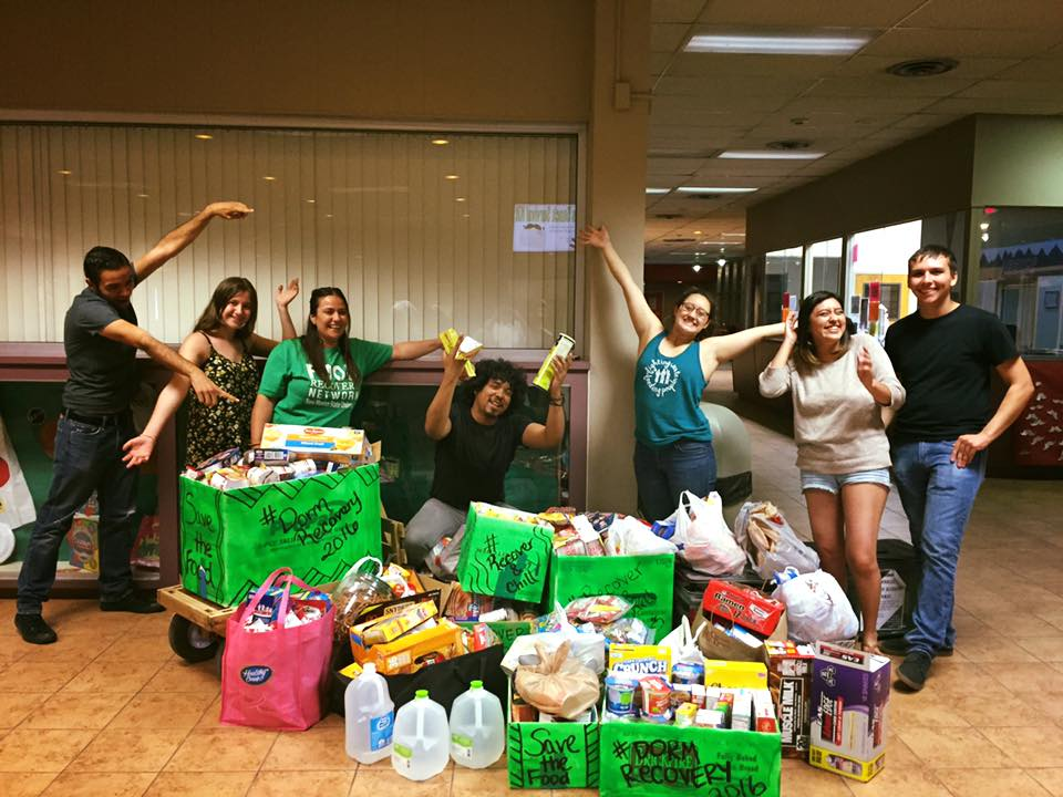 FRNds at New Mexico State at the end of their #DormRecovery2016 where they collected more than 700 pounds of dry goods and nonperishable items.