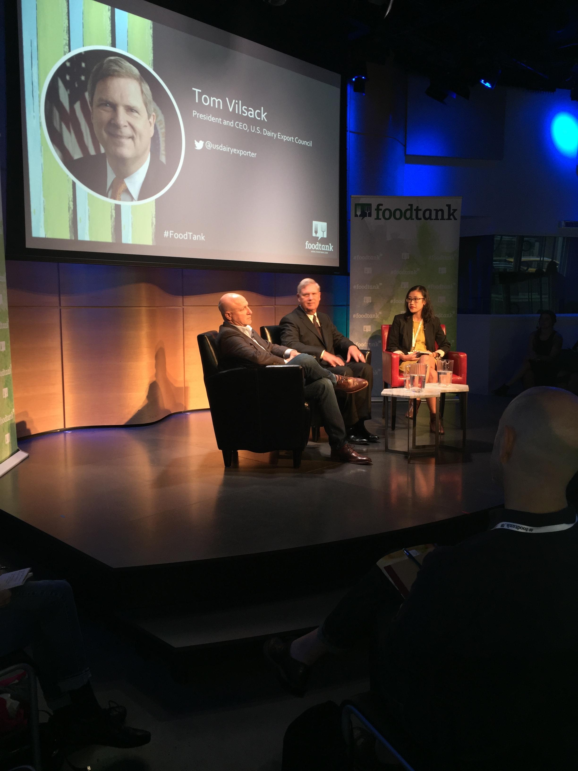 Former US Secretary of Agriculture, Tom Vislack discussing food waste.