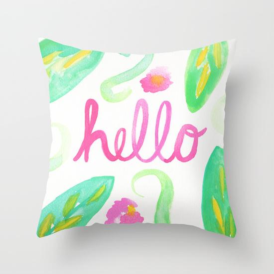 Hello Monday Design - Hello Throw Pillow - Floral