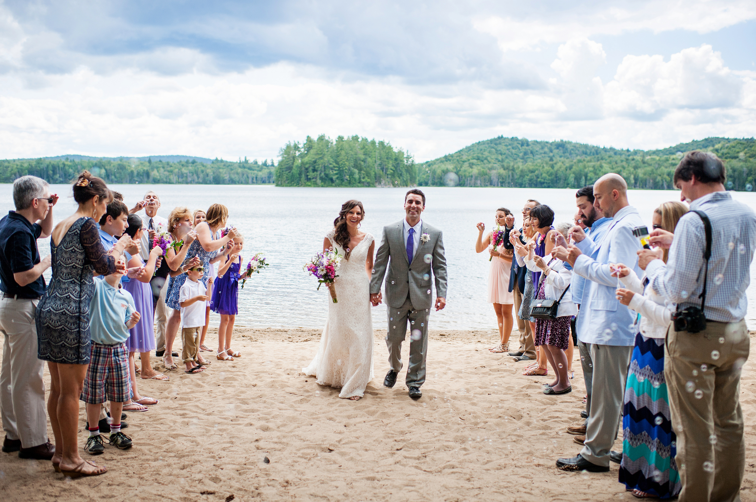 Adirondack Wedding Brown Tract Pond Bubbles